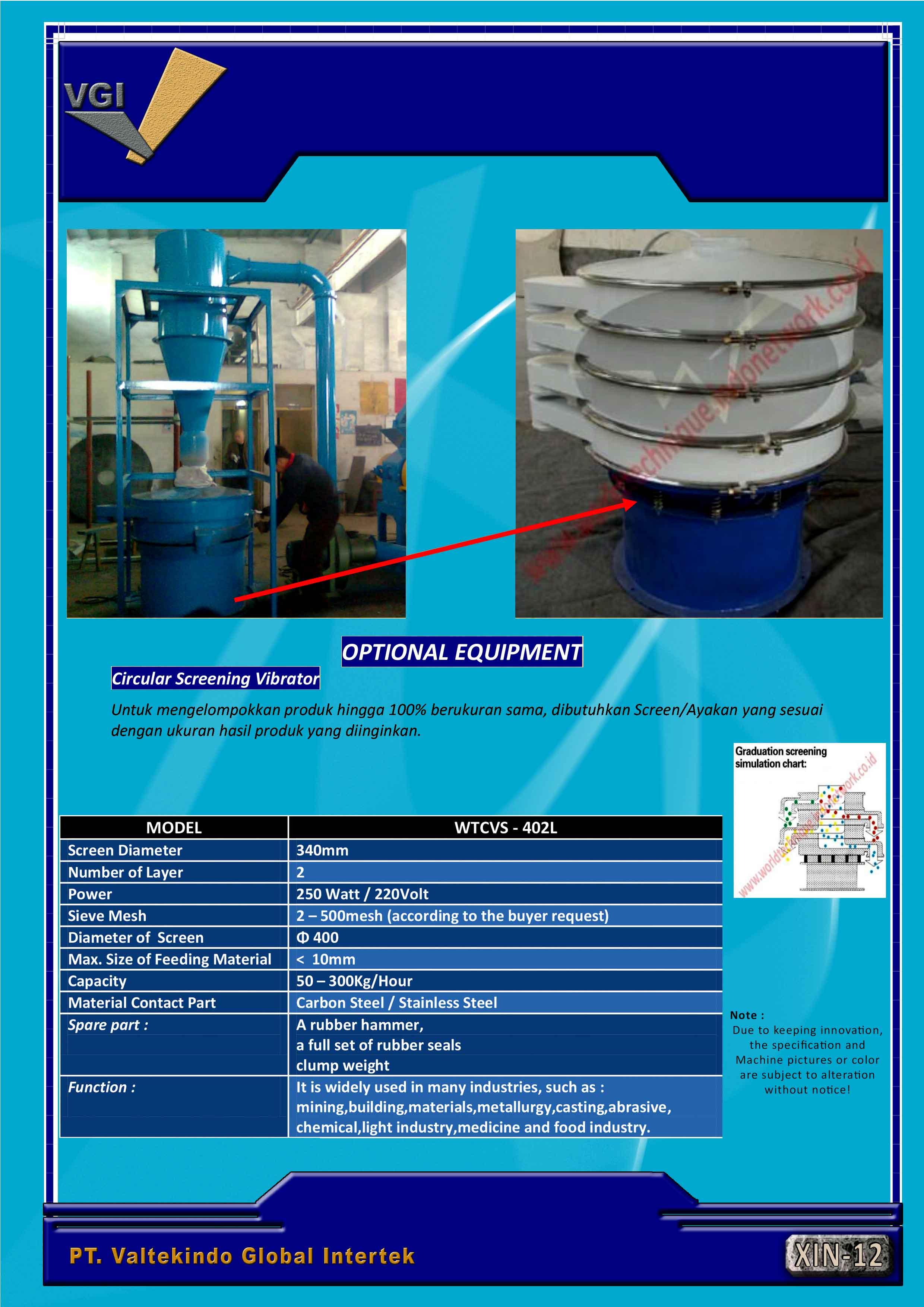 jual mesin Mesin Circular Screen (penyaring) Mesin Circular Screen (penyaring)
