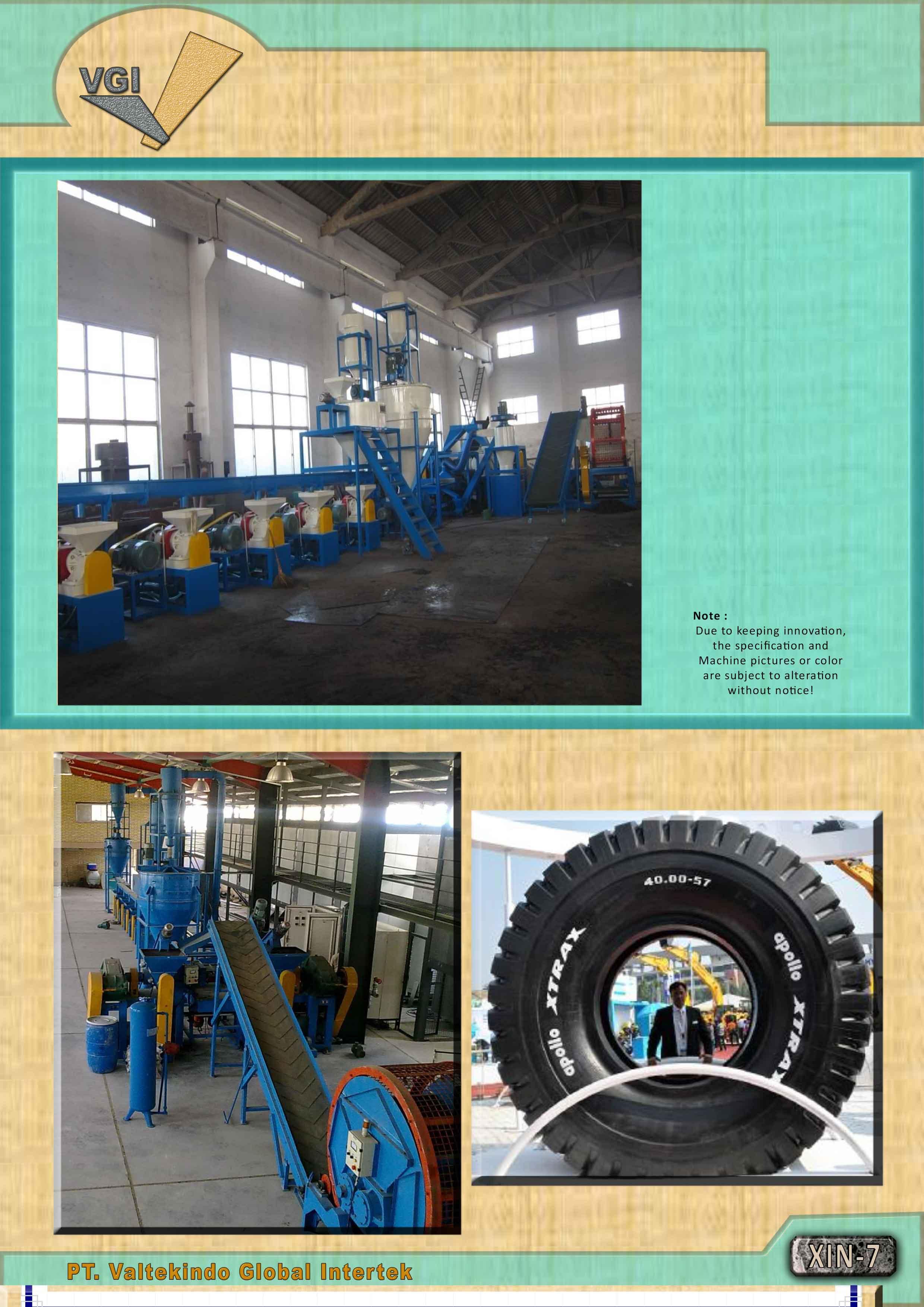 jual mesin MESIN DAUR ULANG BAN OTR 57 (Dia 4 Meter). MESIN DAUR ULANG BAN OTR 57 (Dia 4 Meter).