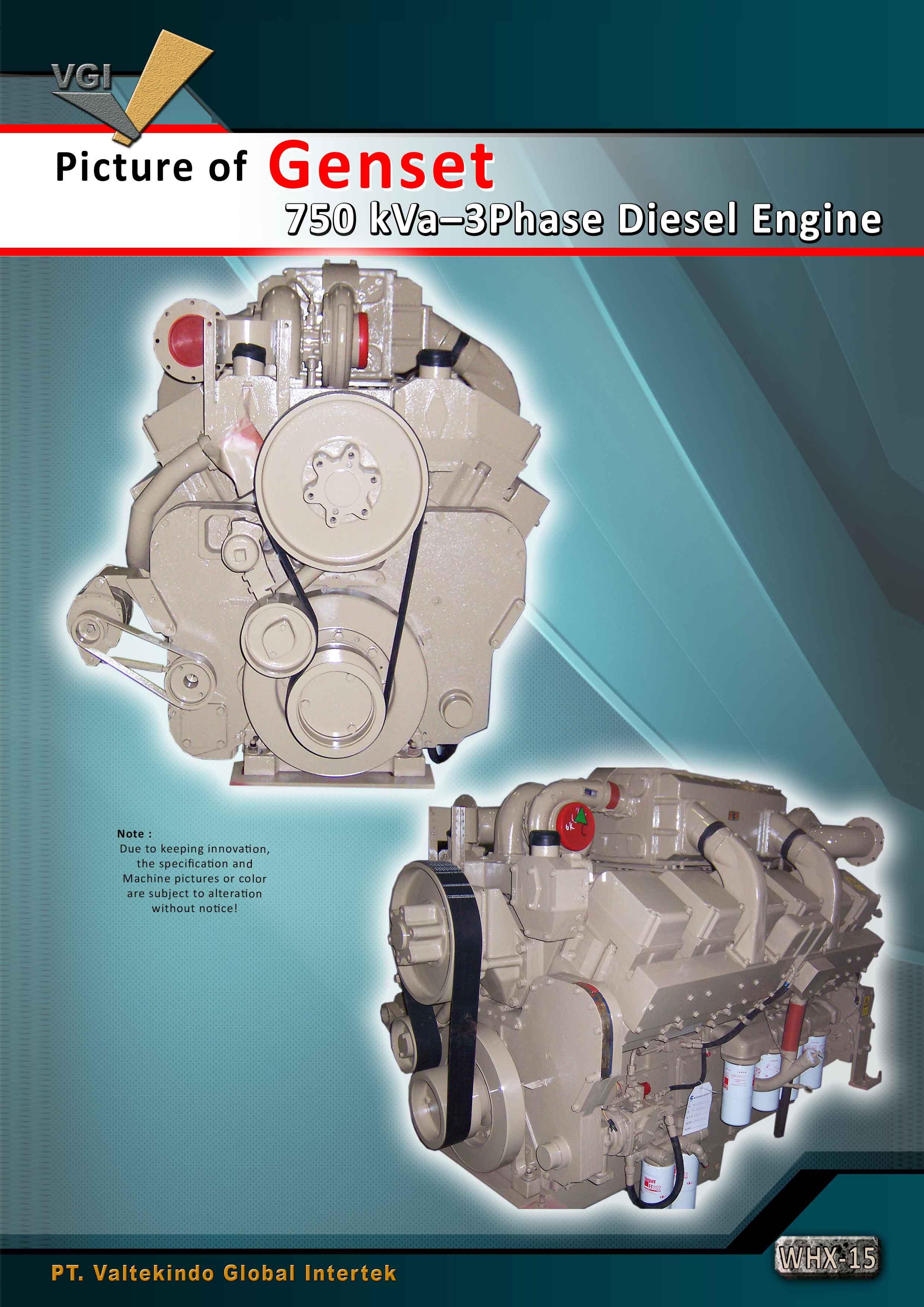 jual mesin Mesin Diesel Genset 750 kVa Mesin Diesel Genset 750 kVa