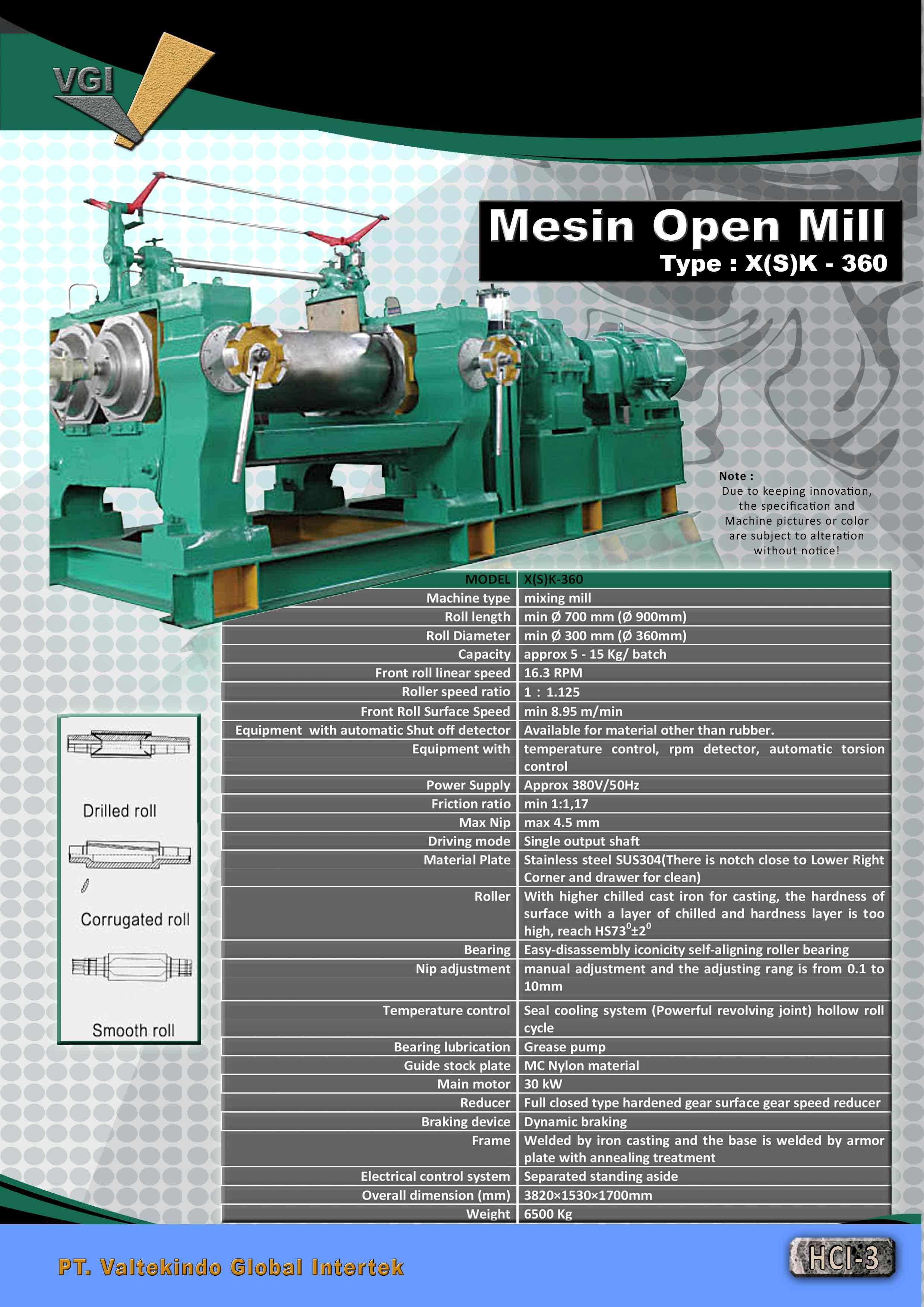 jual mesin Mesin Open Mill  Mesin Open Mill