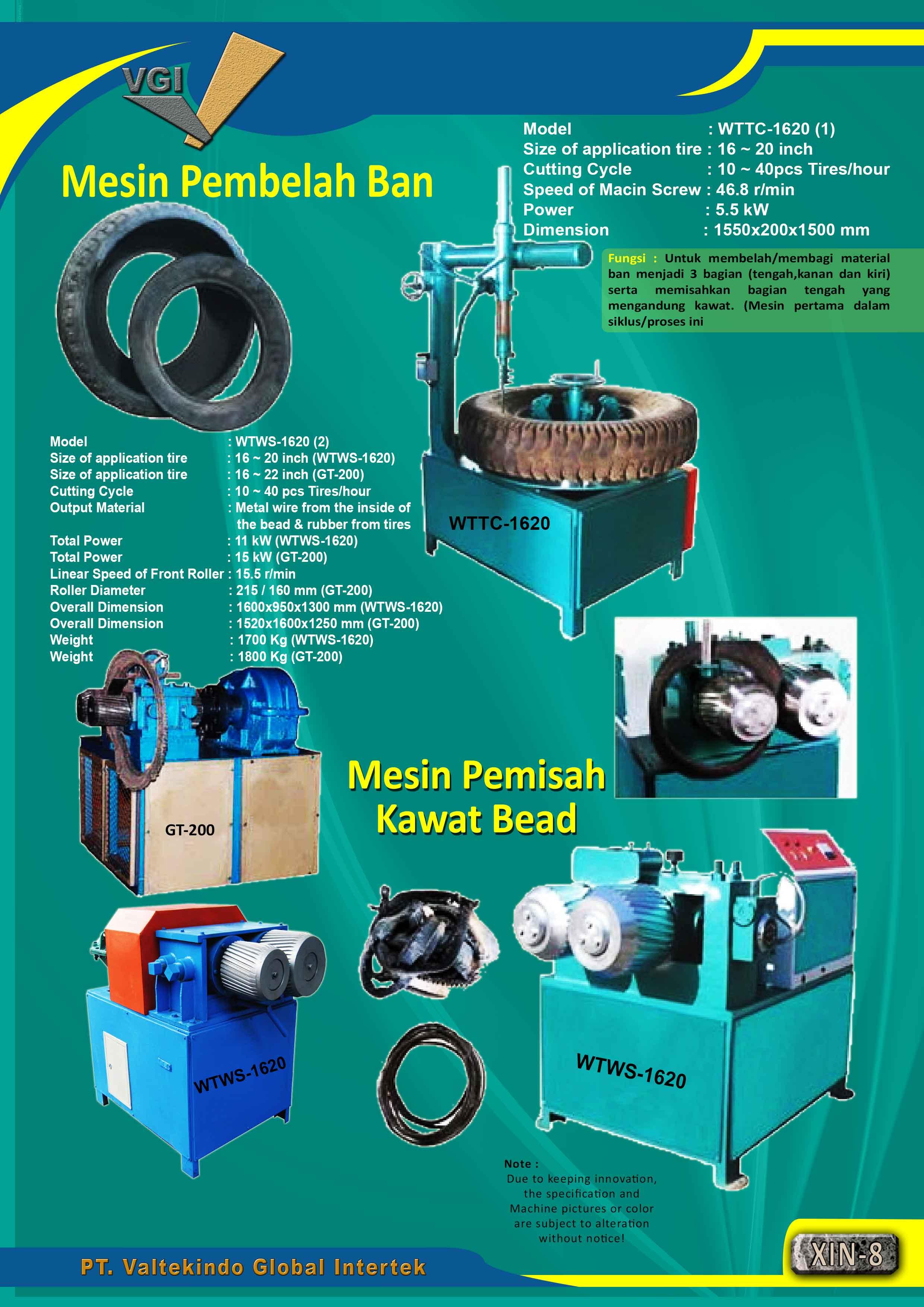 jual mesin Mesin Pembelah & Pemisah Kawat Bead Mesin Pembelah & Pemisah Kawat Bead