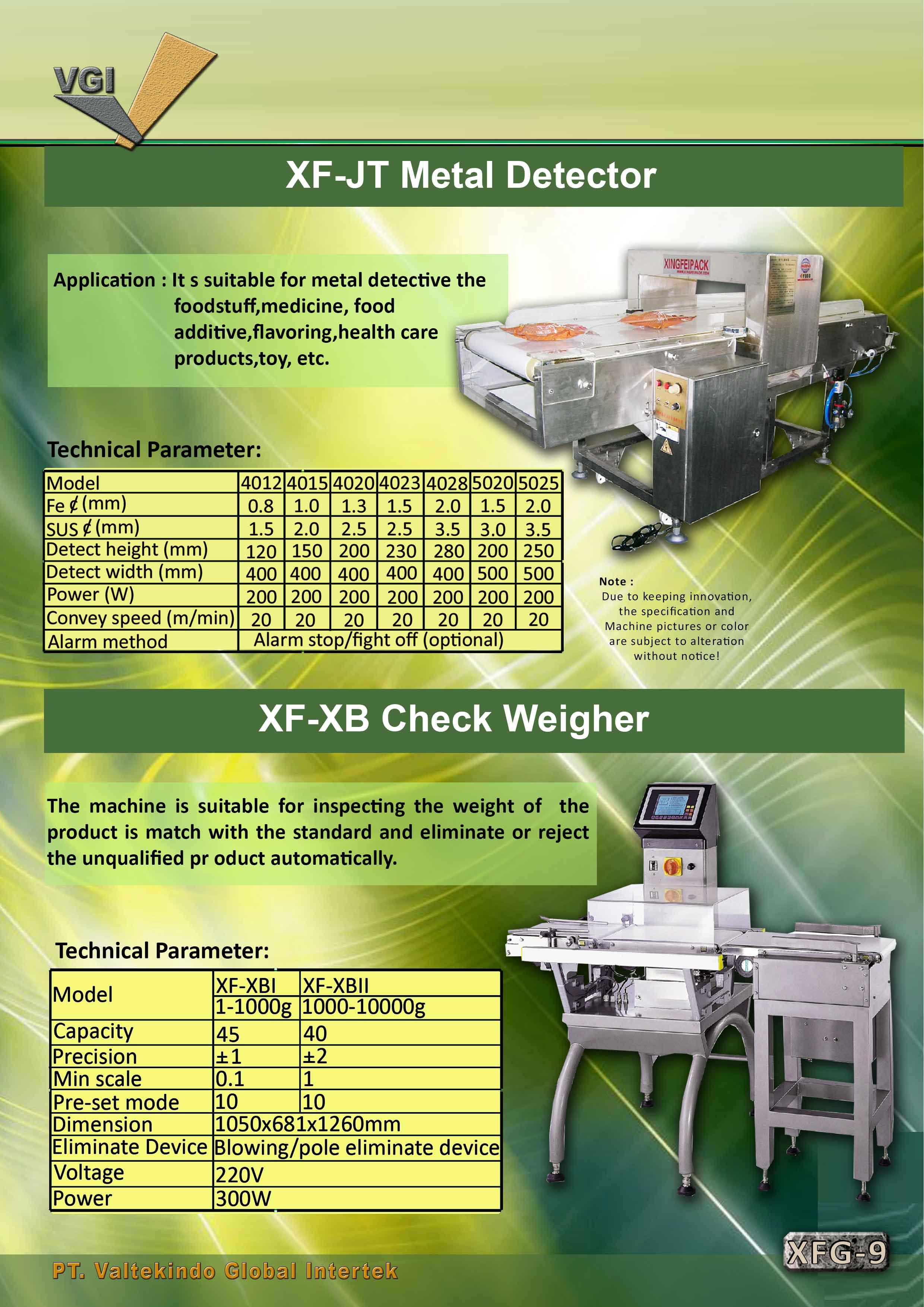 jual mesin Metal Detector & Check Weigher Metal Detector & Check Weigher