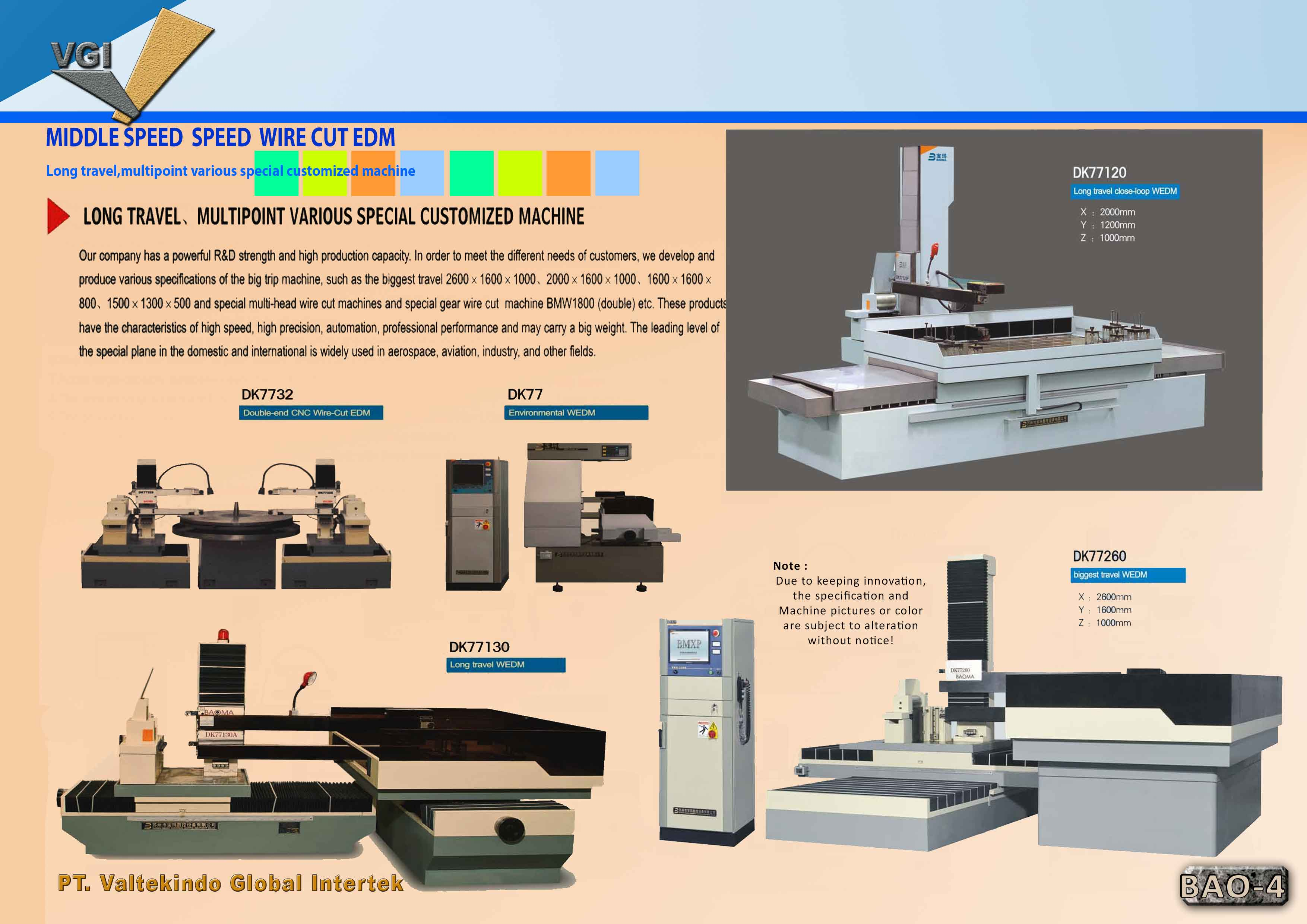 jual mesin Middle Speed Wire Cut