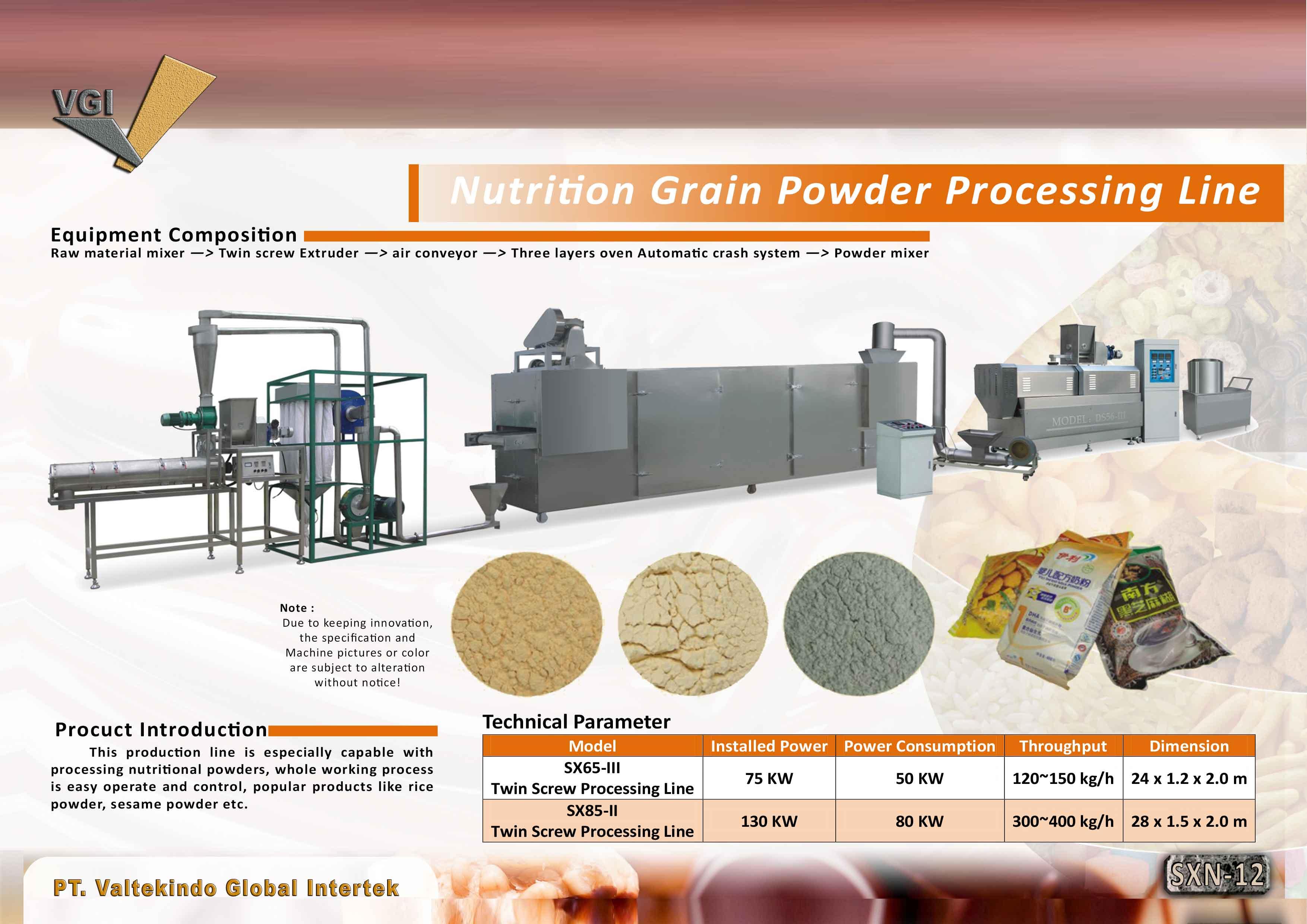 jual mesin Nutrition Grain Powder Processing Nutrition Grain Powder Processing