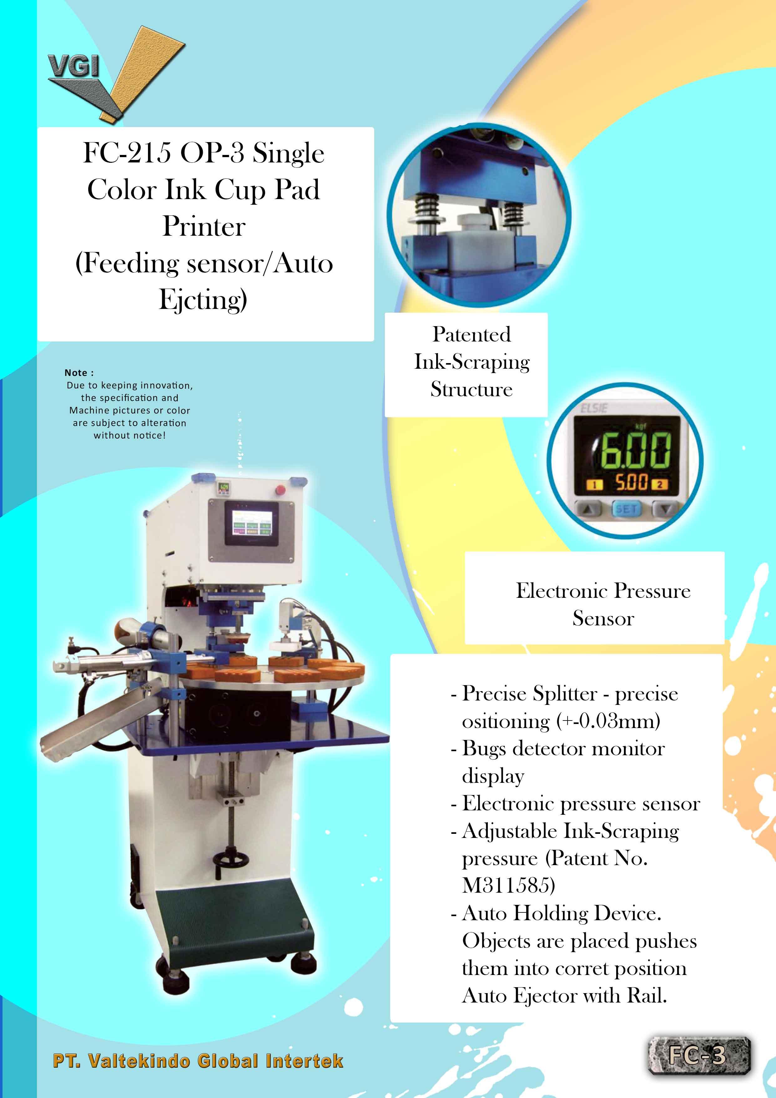 jual mesin, harga mesin, jual mesin bandung, distributor mesin, jual mesin karet, daur ulang karet, daur ulang plastik, mesin pertanian OP-3 Single Color Ink Cup Pad Printer (Feeding Sensor Auto Ejecting) OP-3 Single Color Ink Cup Pad Printer (Feeding Sensor Auto Ejecting)