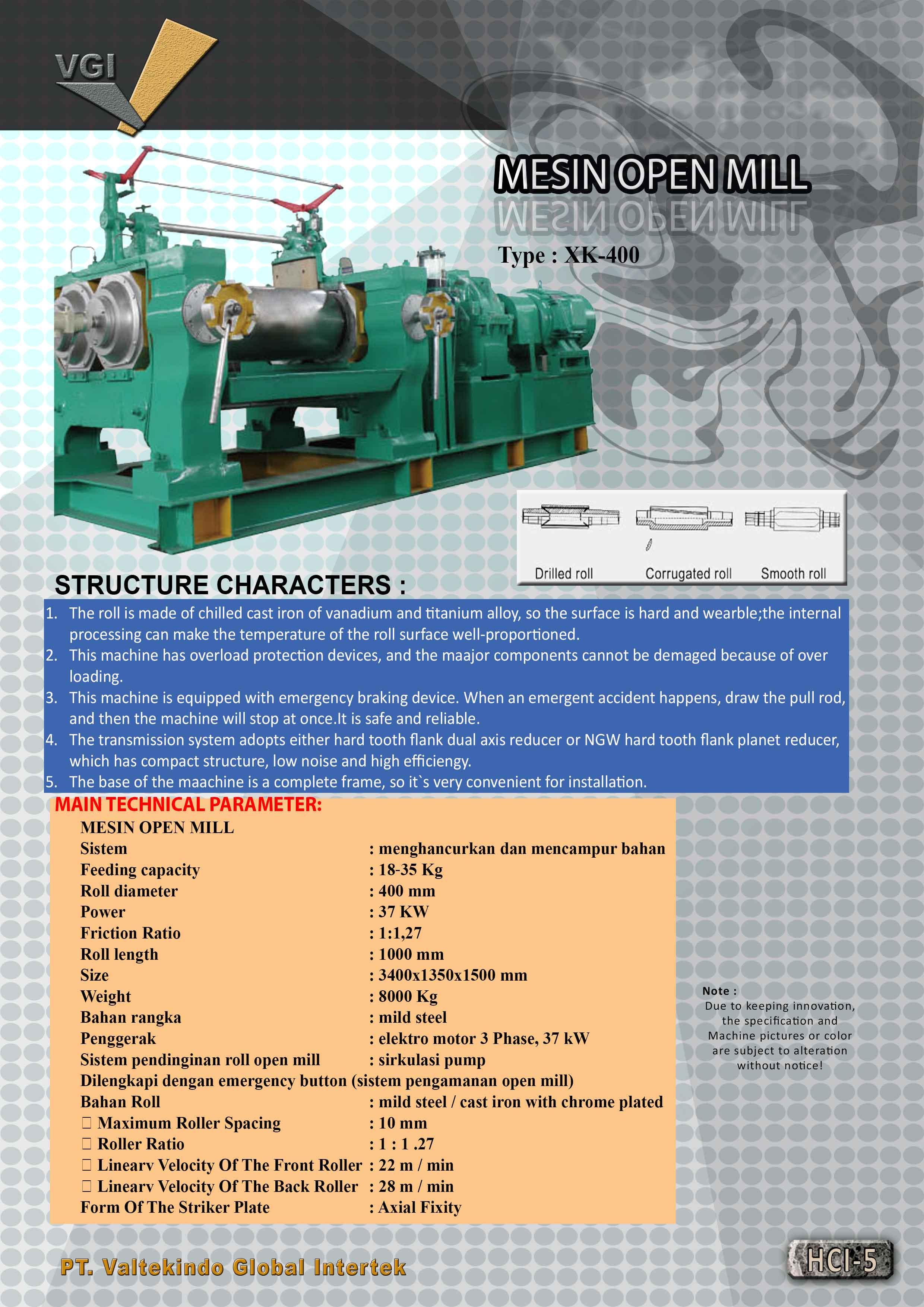 jual mesin, harga mesin, jual mesin bandung, distributor mesin, jual mesin karet, daur ulang karet, daur ulang plastik, mesin pertanian Open Mill Type  Open Mill Type