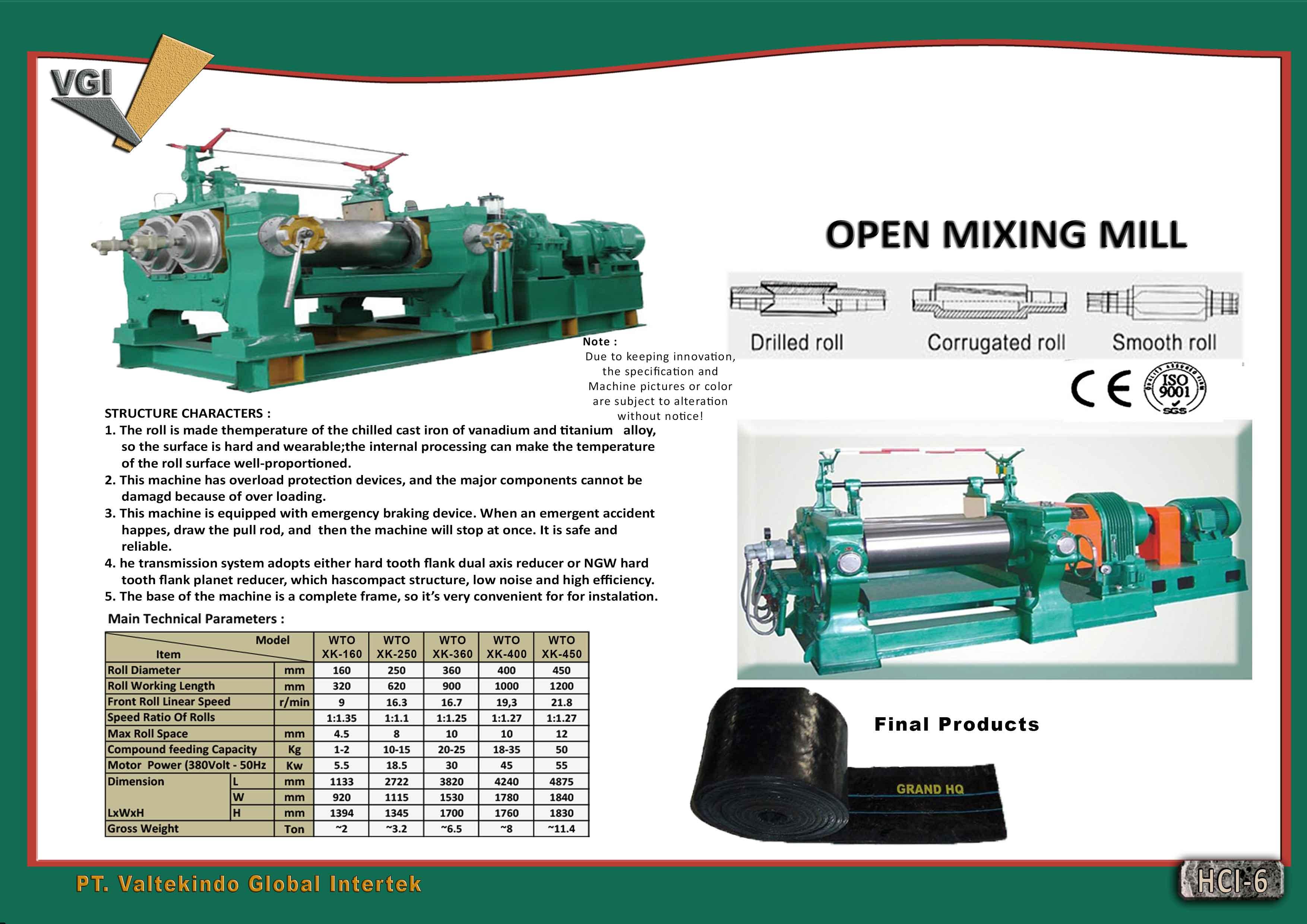 jual mesin, harga mesin, jual mesin bandung, distributor mesin, jual mesin karet, daur ulang karet, daur ulang plastik, mesin pertanian Open Mixing Mill Open Mixing Mill