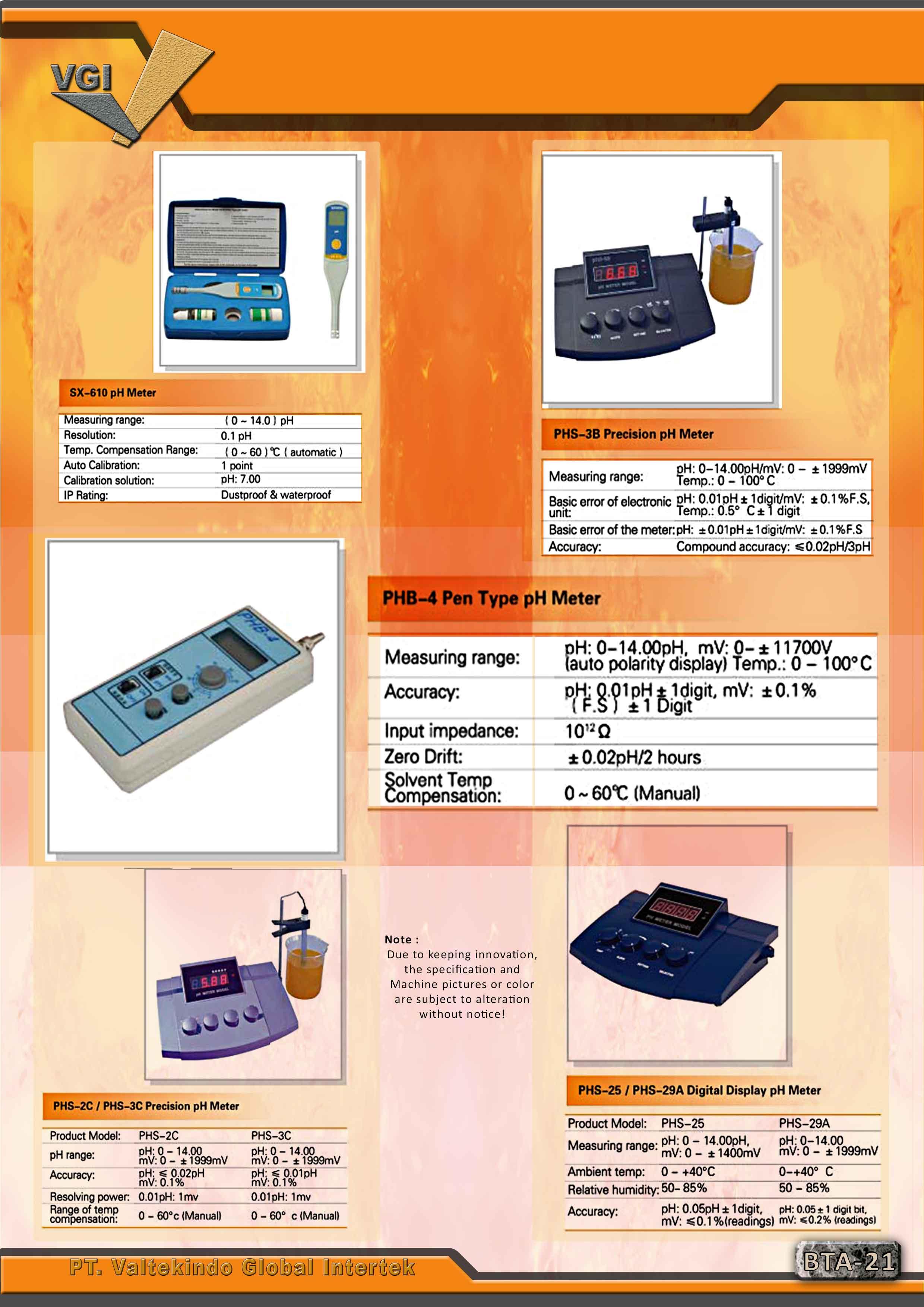 jual mesin Ph- Meter Series Ph- Meter Series