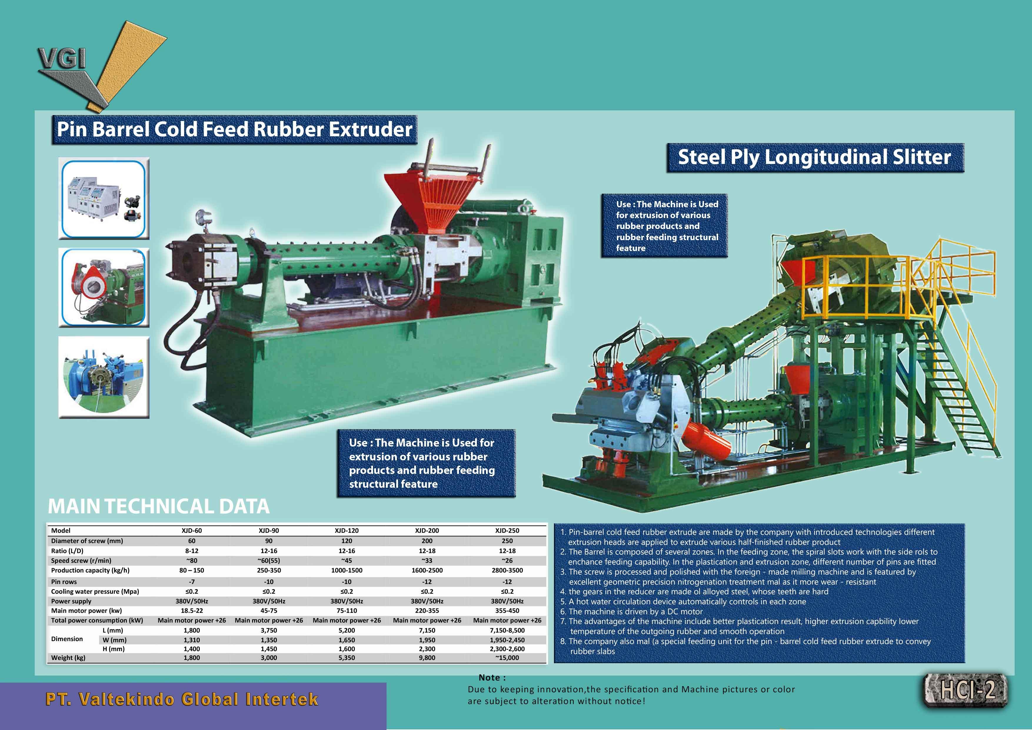 jual mesin Pin Barrel Extruder Steel Ply Longitudinal Slitter Pin Barrel Extruder Steel Ply Longitudinal Slitter