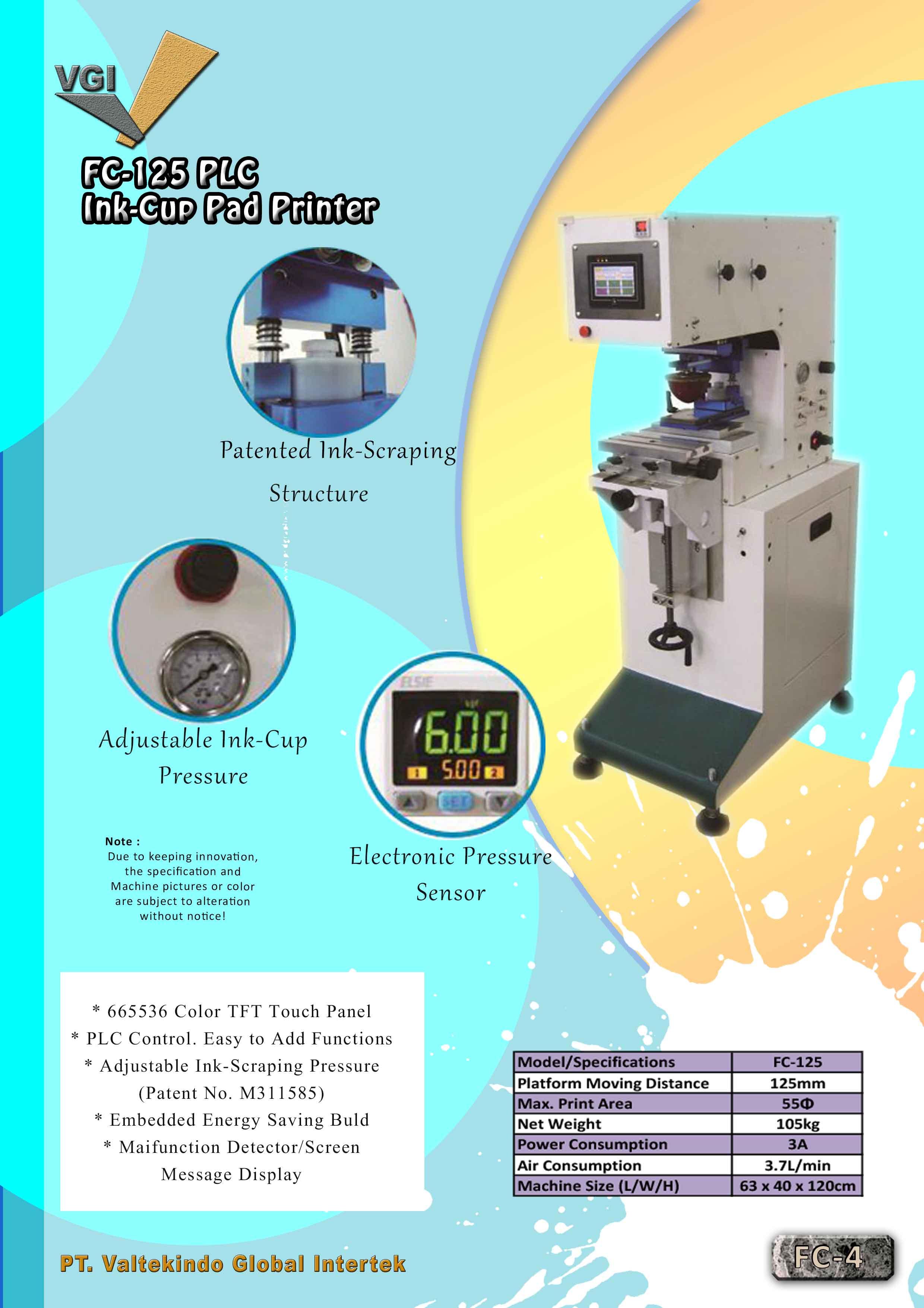 jual mesin PLC Ink-Cup Pad Printer PLC Ink-Cup Pad Printer
