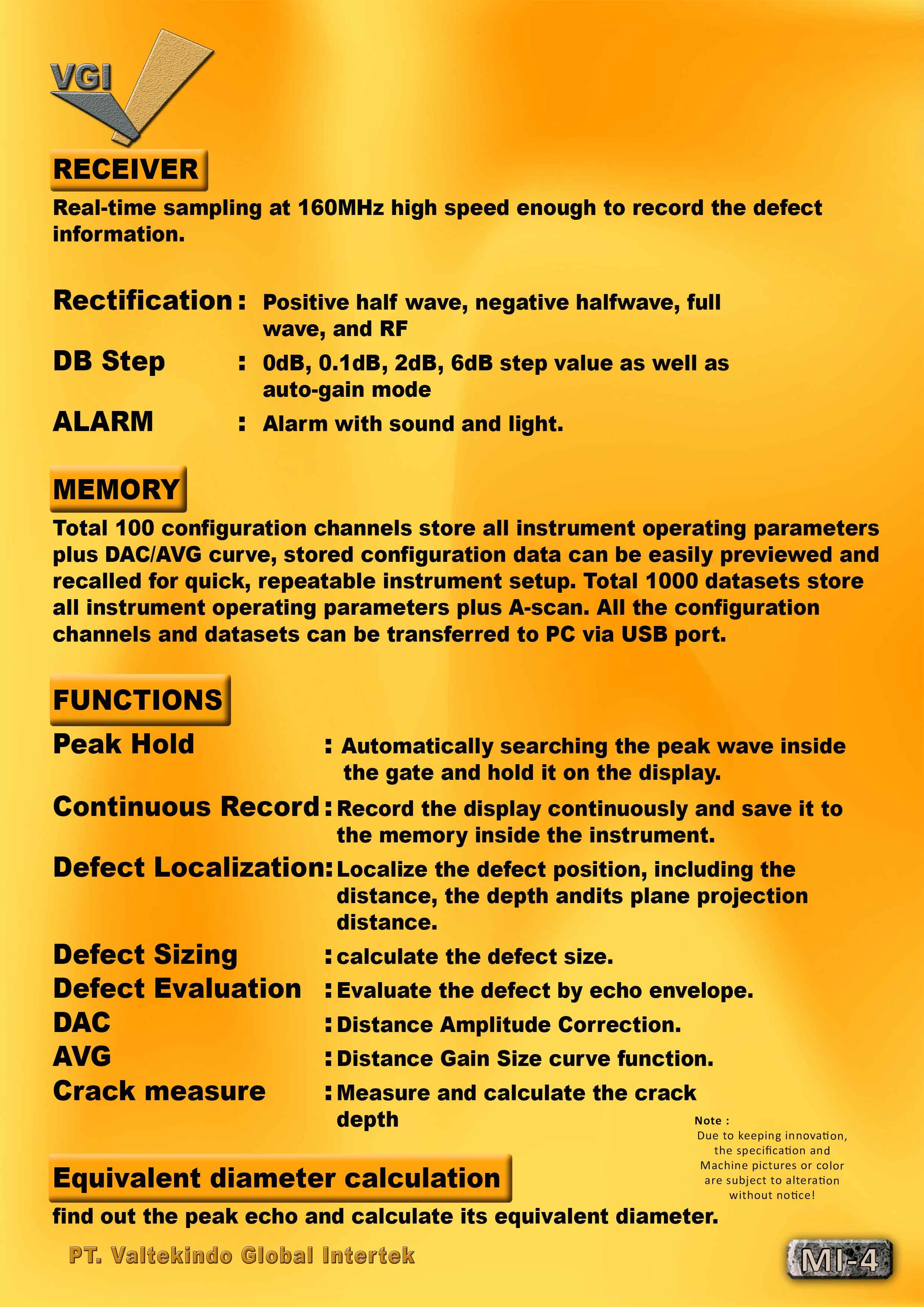 jual mesin Portable Ultrasonic Flaw Detector (Spec)2 Portable Ultrasonic Flaw Detector (Spec)2