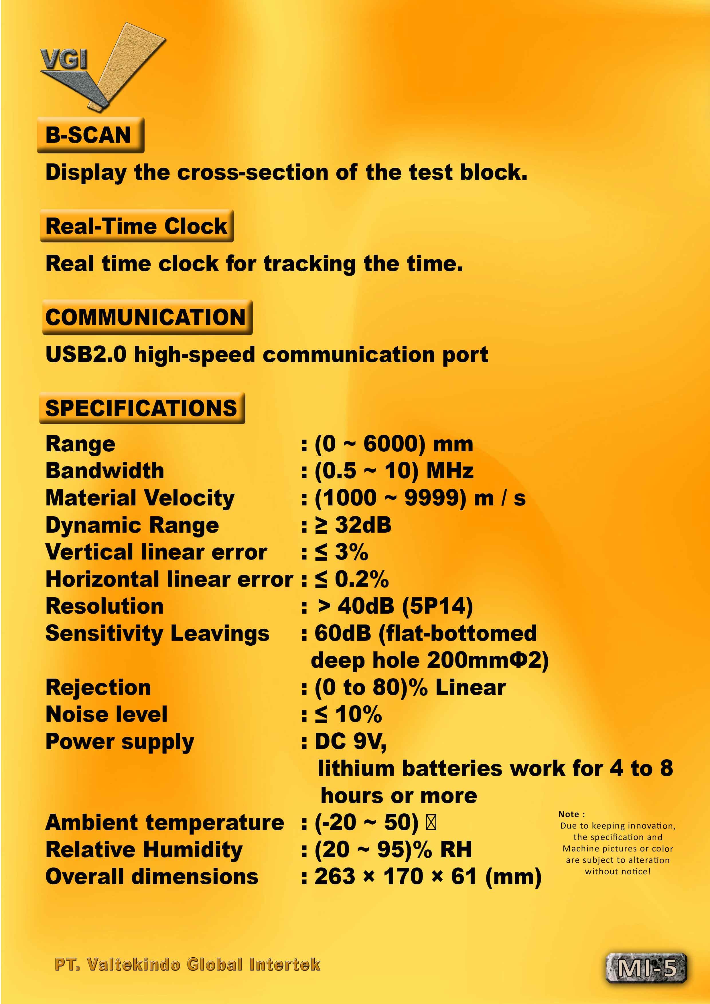 jual mesin Portable Ultrasonic Flaw Detector (Spec)3 Portable Ultrasonic Flaw Detector (Spec)3