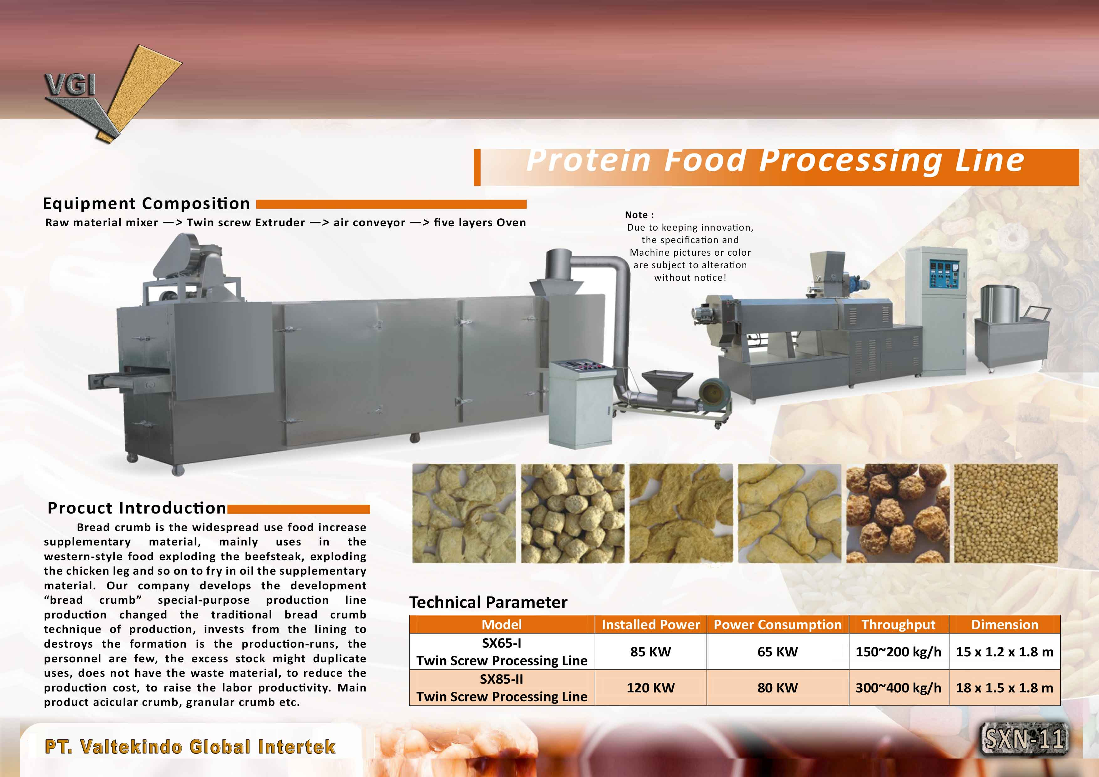 jual mesin Protein Food Processing Protein Food Processing