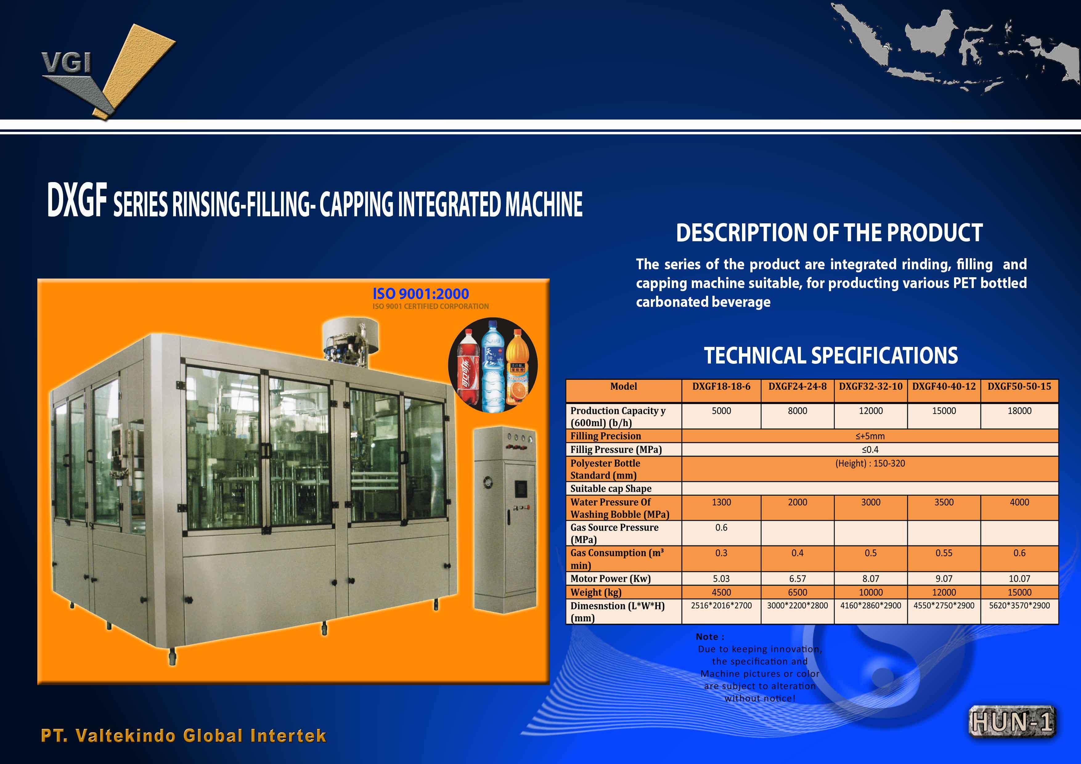 jual mesin RINSING-FILLING-CAPPING INTREGRATED MACHINE RINSING-FILLING-CAPPING INTREGRATED MACHINE