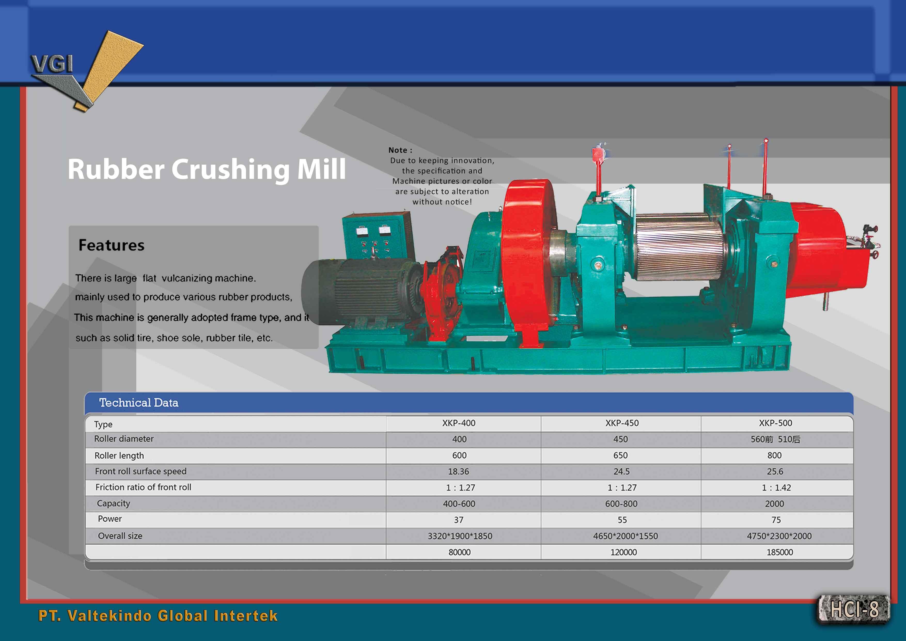 jual mesin Rubber Crushing Mill Rubber Crushing Mill