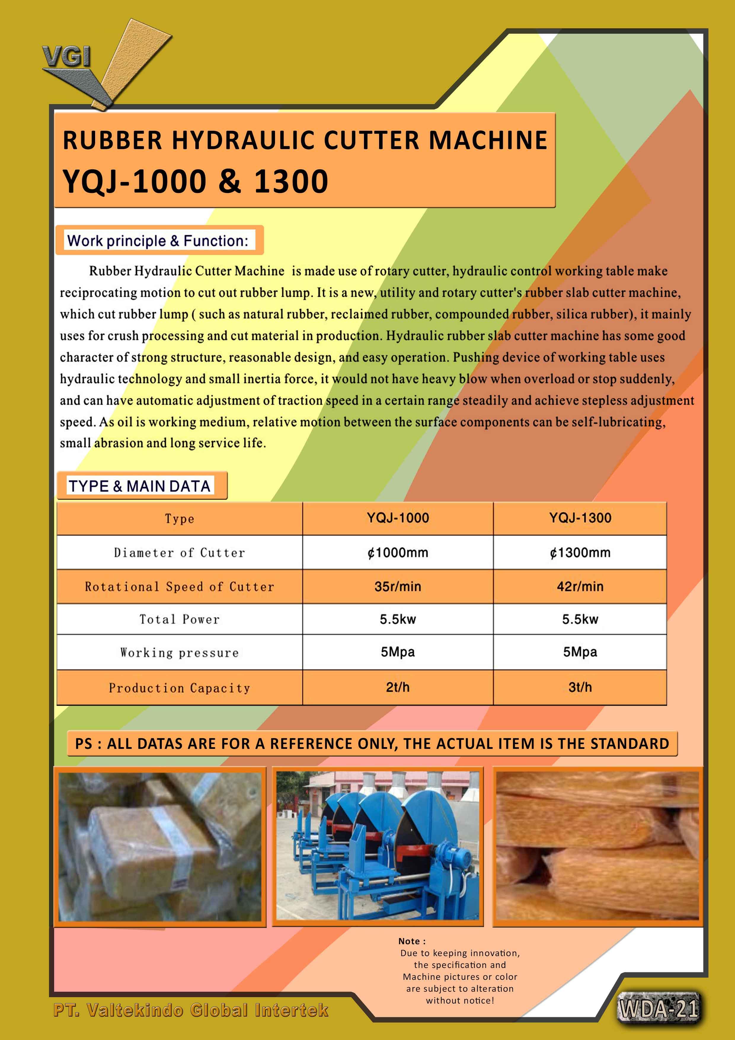 jual mesin Rubber Hydraulic Cutter Machine Rubber Hydraulic Cutter Machine