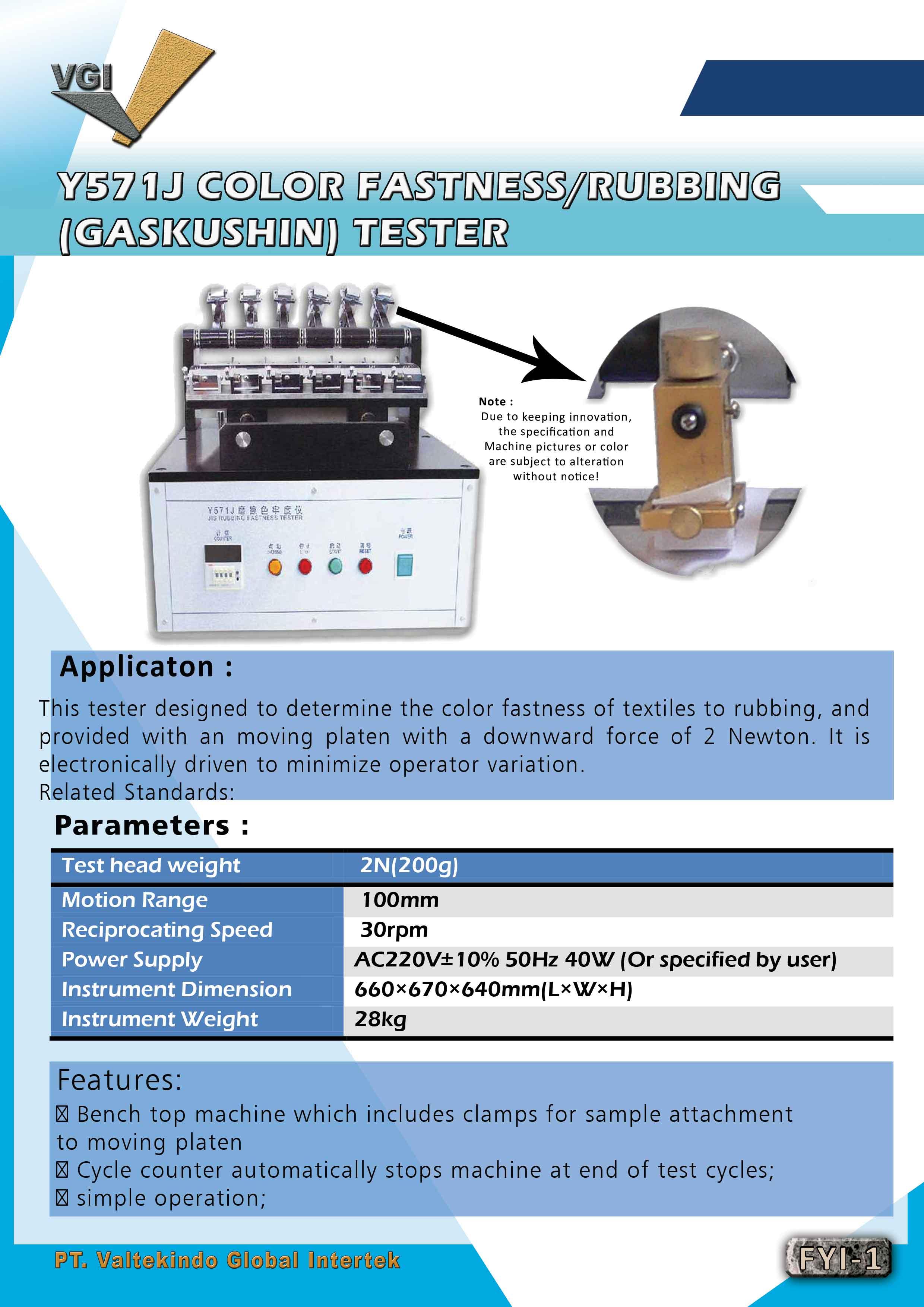 jual mesin Rubbing Fastness tester (Japan Industry Standard)  Rubbing Fastness tester (Japan Industry Standard)