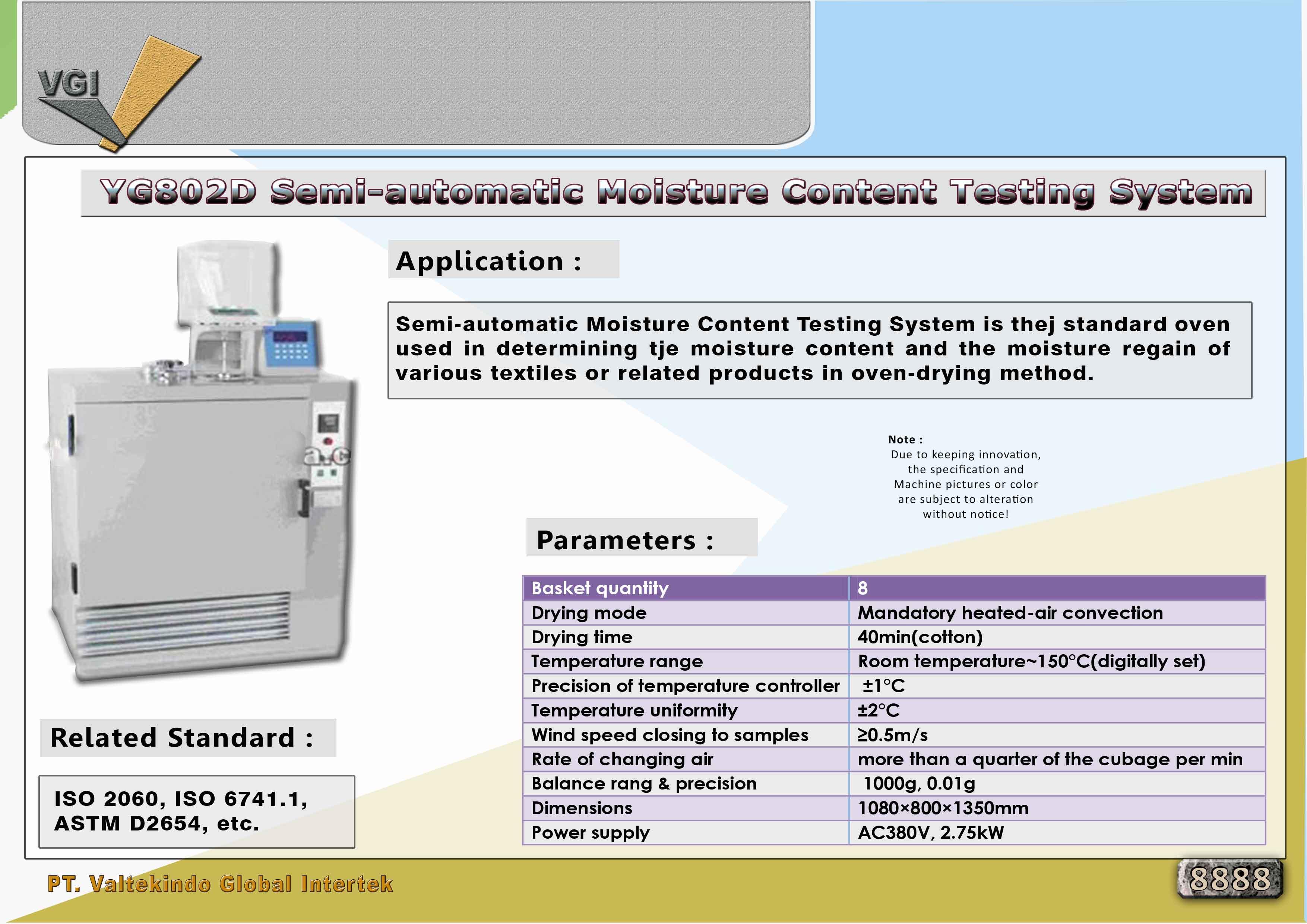 jual mesin Semi-Automatic Moisture Content Testing System Semi-Automatic Moisture Content Testing System