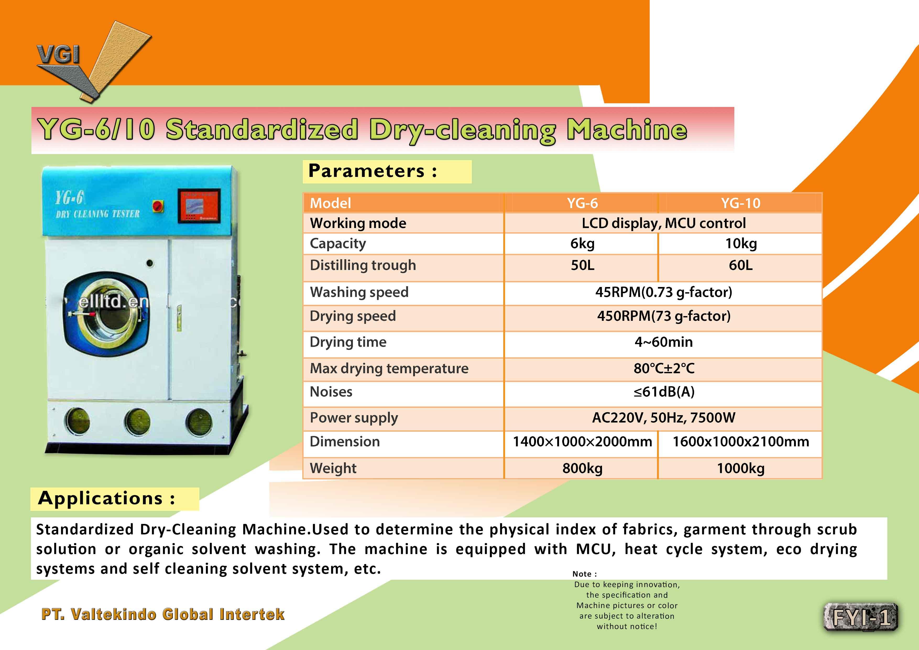 jual mesin, harga mesin, distributor mesin, jual mesin karet, daur ulang plastik Standardized Dry Cleaning Machine  Standardized Dry Cleaning Machine