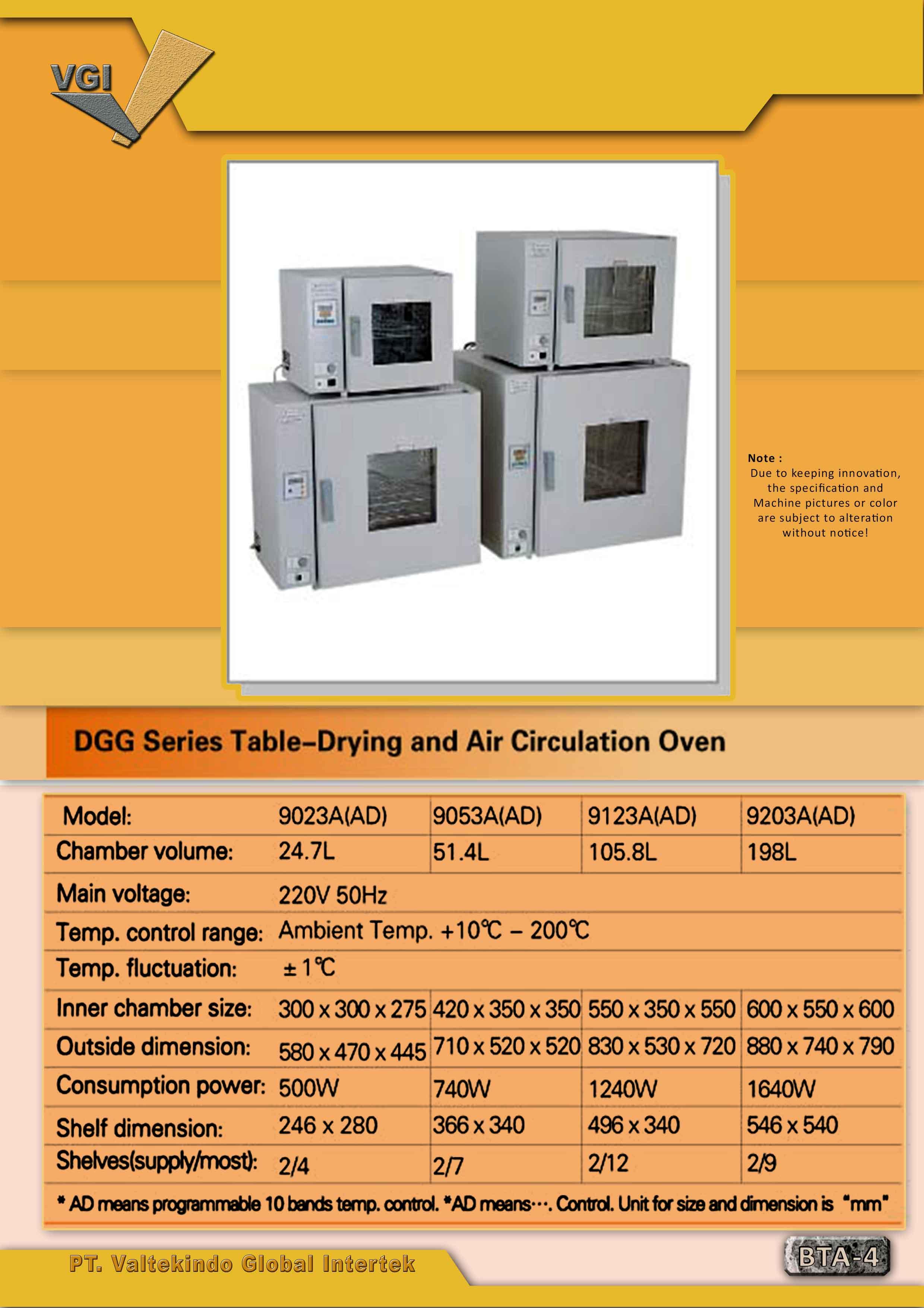 jual mesin Table Drying and Air Circulation Oven Table Drying and Air Circulation Oven