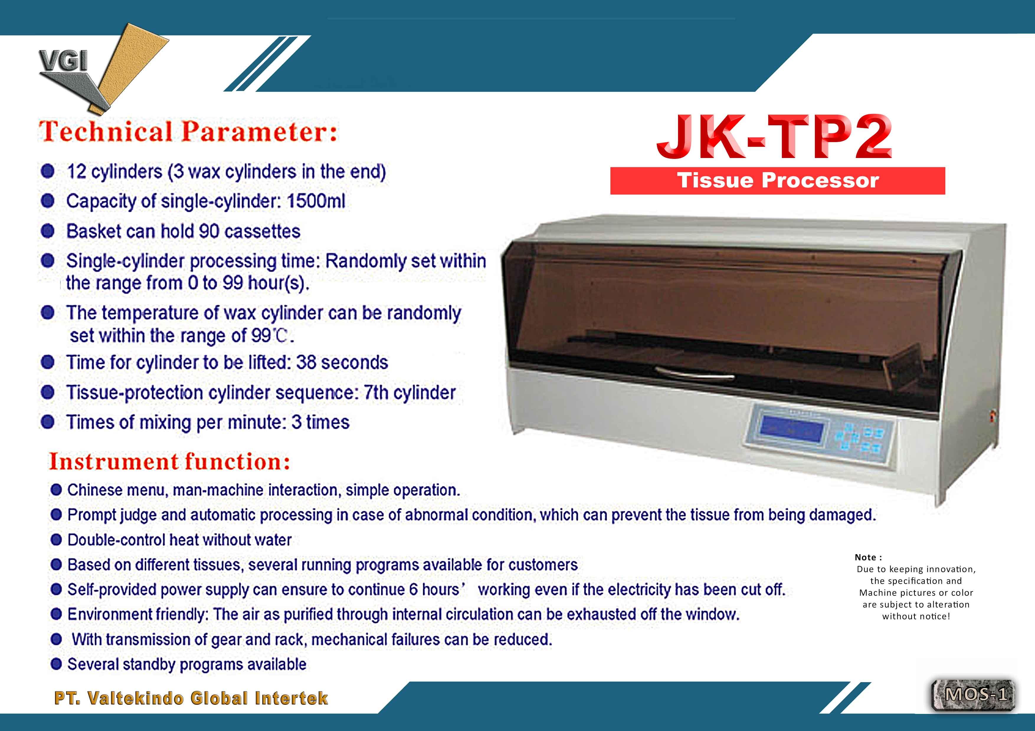 jual mesin Tissue Processor  Tissue Processor