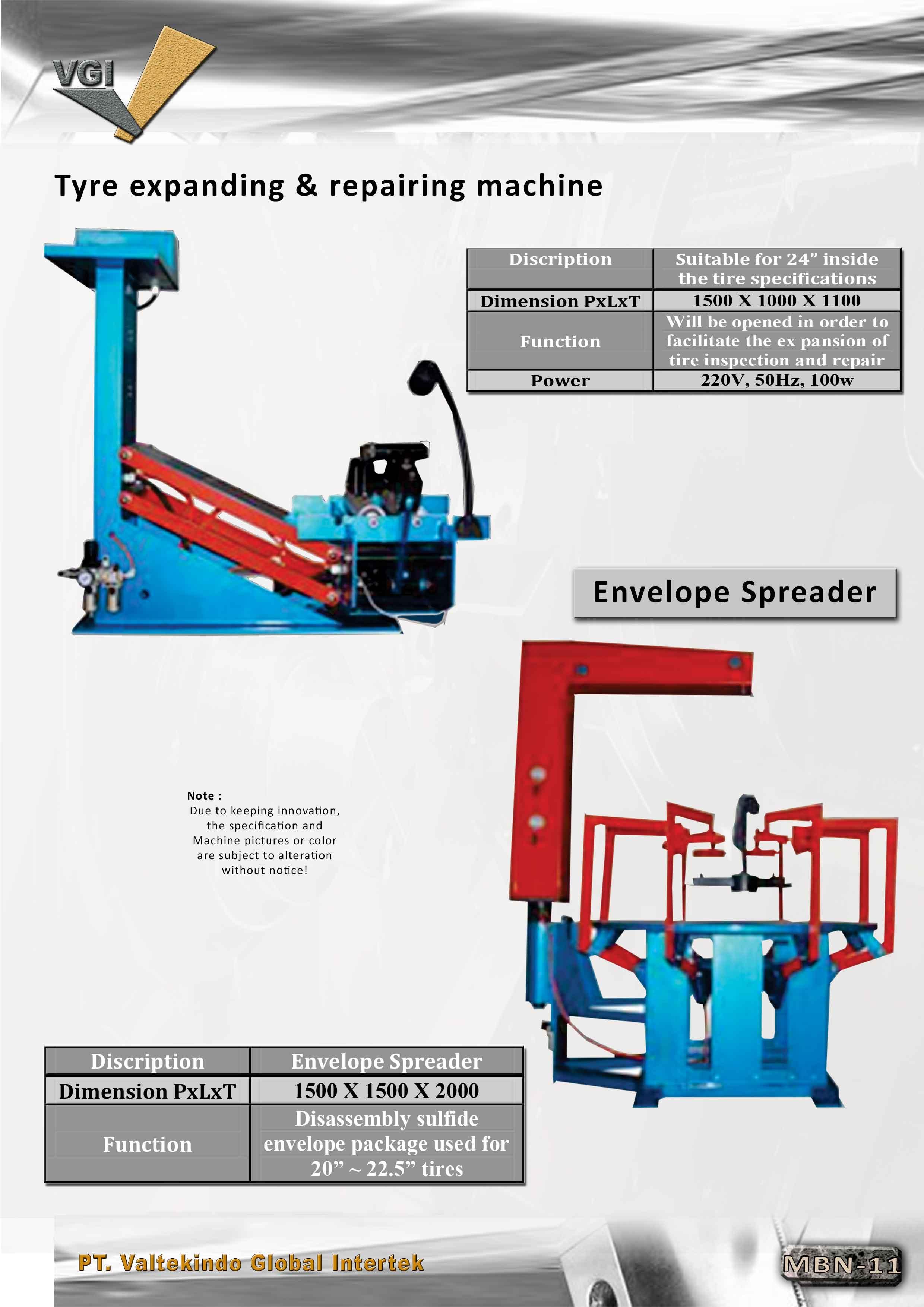 jual mesin Tyre Expanding & Repairing Machine , Envelope Spreader Tyre Expanding & Repairing Machine , Envelope Spreader