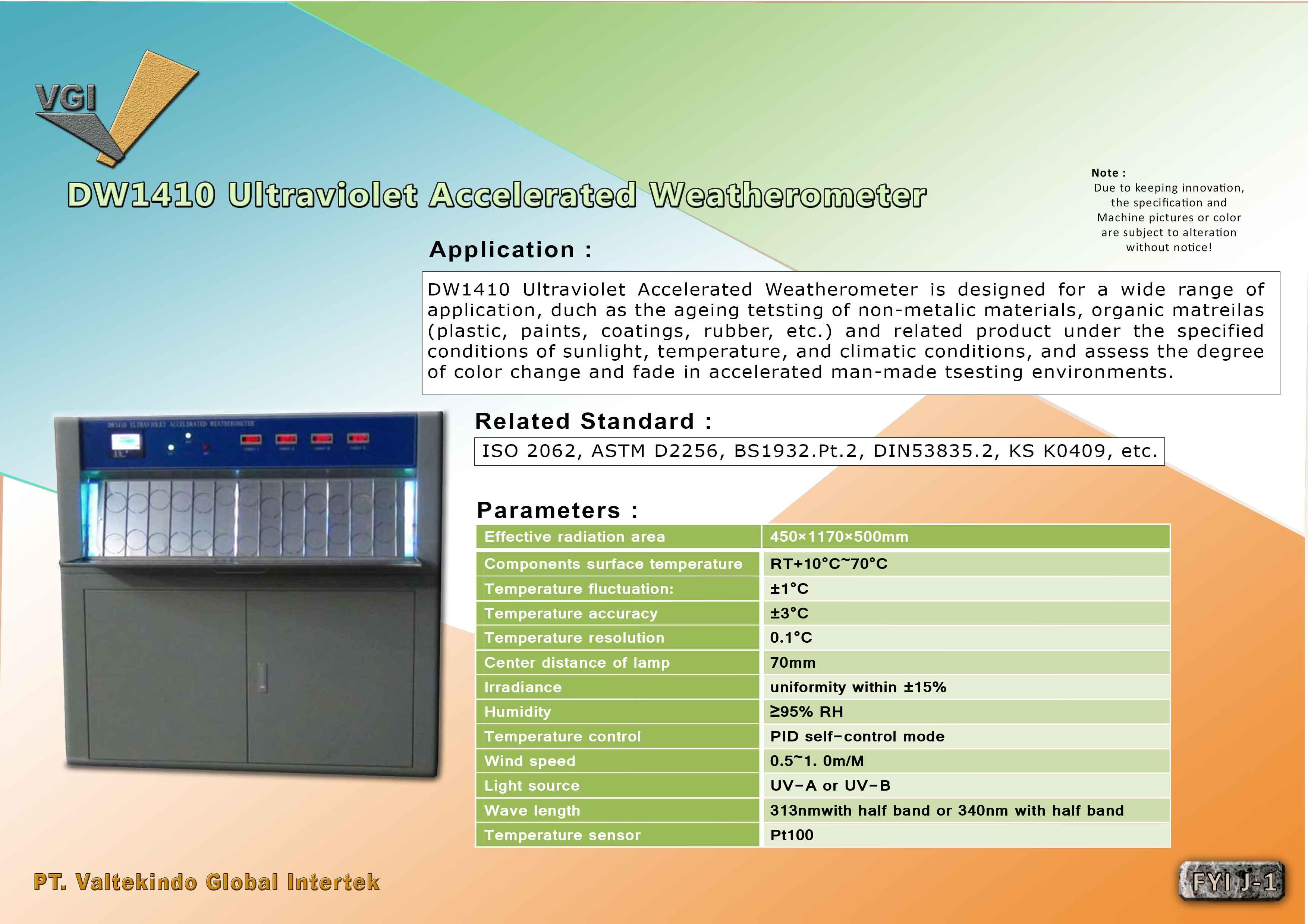 jual mesin Ultraviolet Accelerated Weatherometer Ultraviolet Accelerated Weatherometer