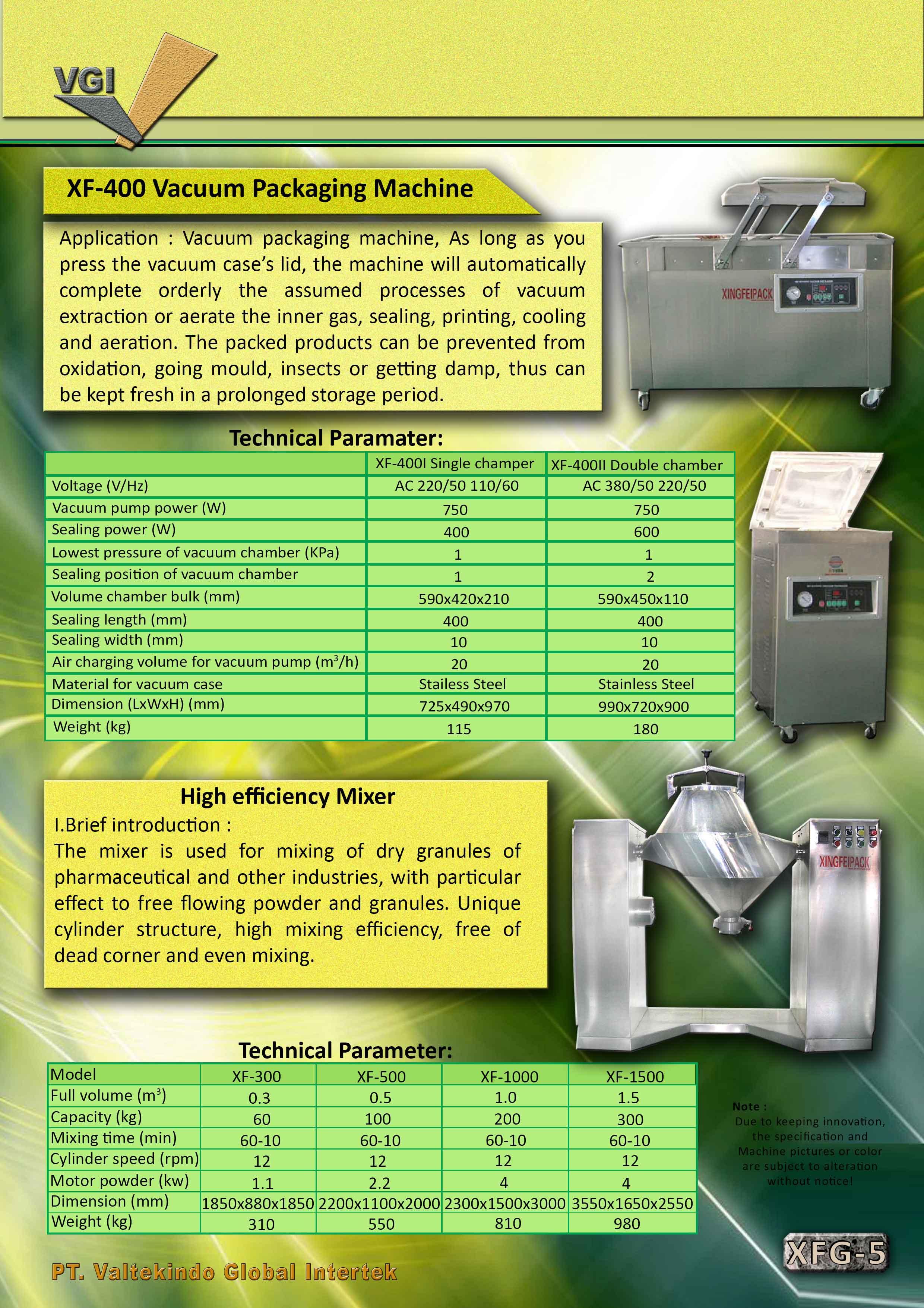 jual mesin Vacuum Packaging Machine & High Efficiency Mixer Vacuum Packaging Machine & High Efficiency Mixer