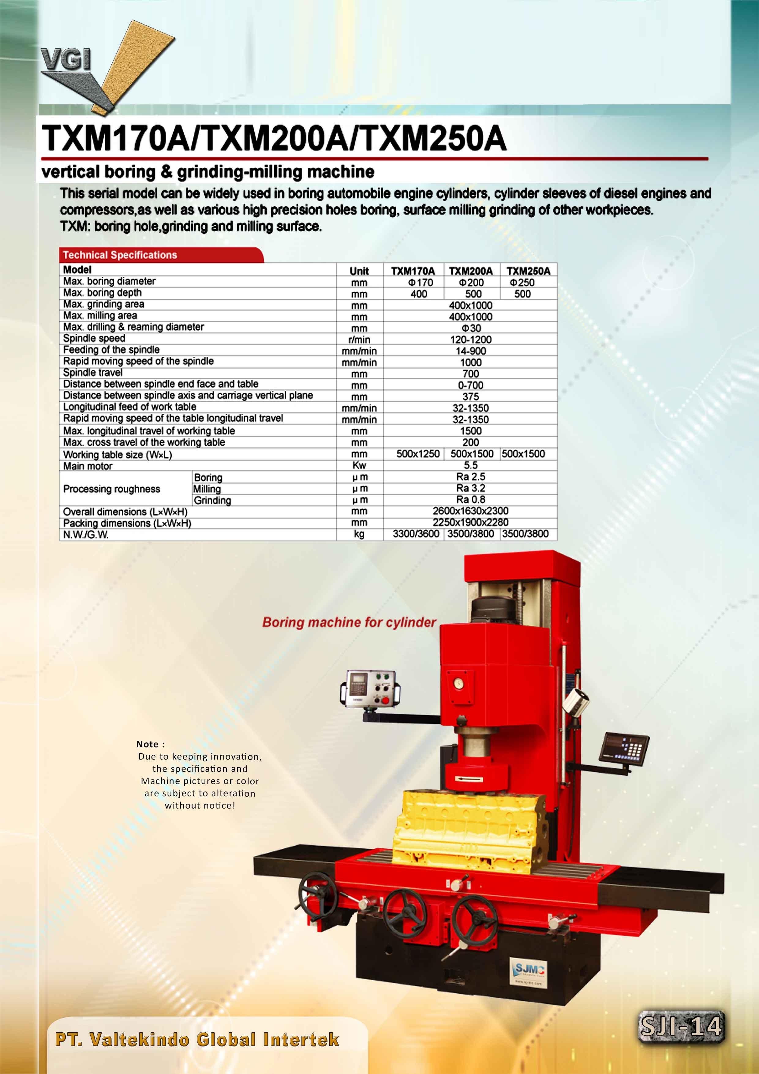 jual mesin Vertical Boring & Grinding Milling  Vertical Boring & Grinding Milling
