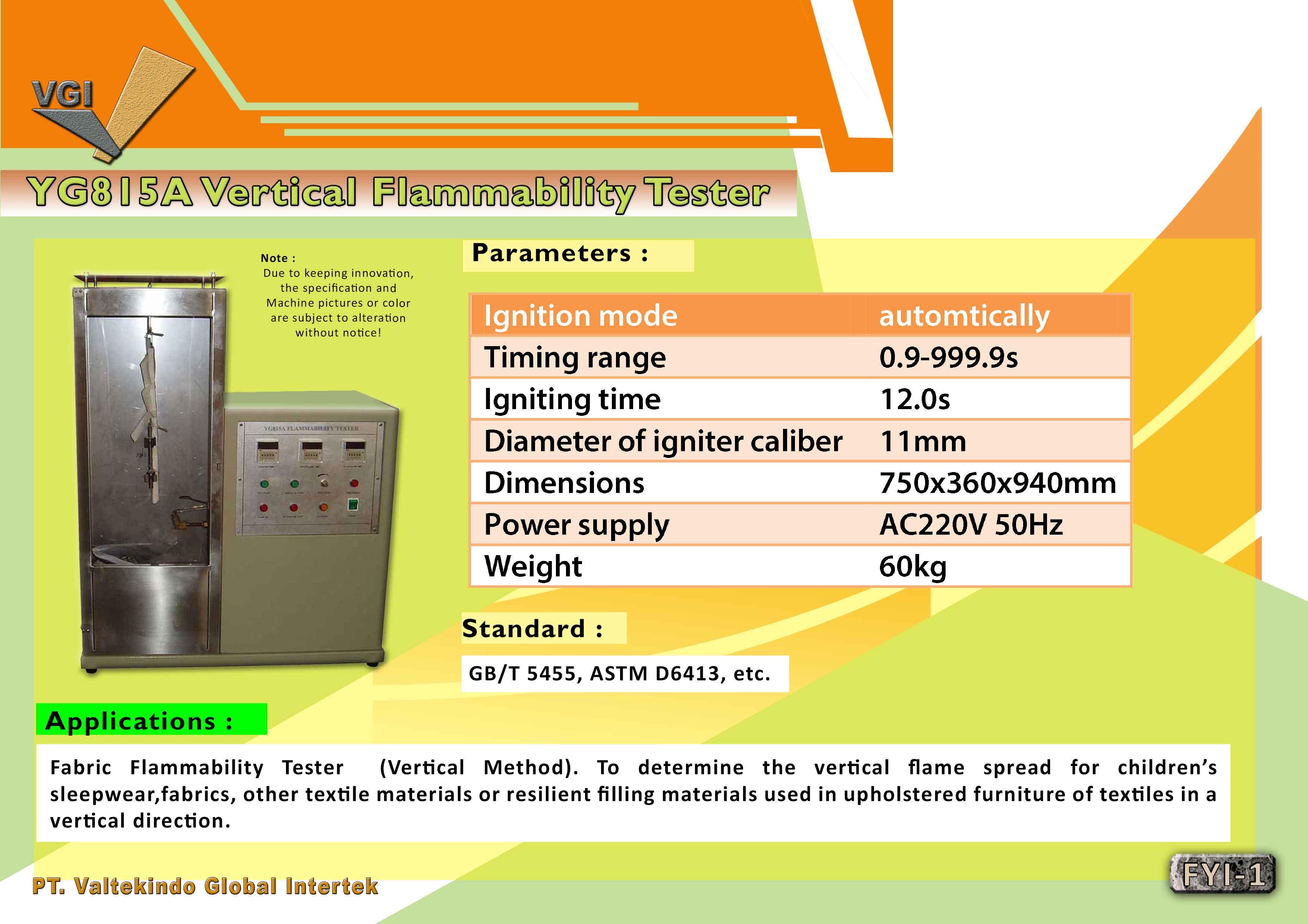 jual mesin, harga mesin, distributor mesin, jual mesin karet, daur ulang plastik Vertical Flammability Tester  Vertical Flammability Tester