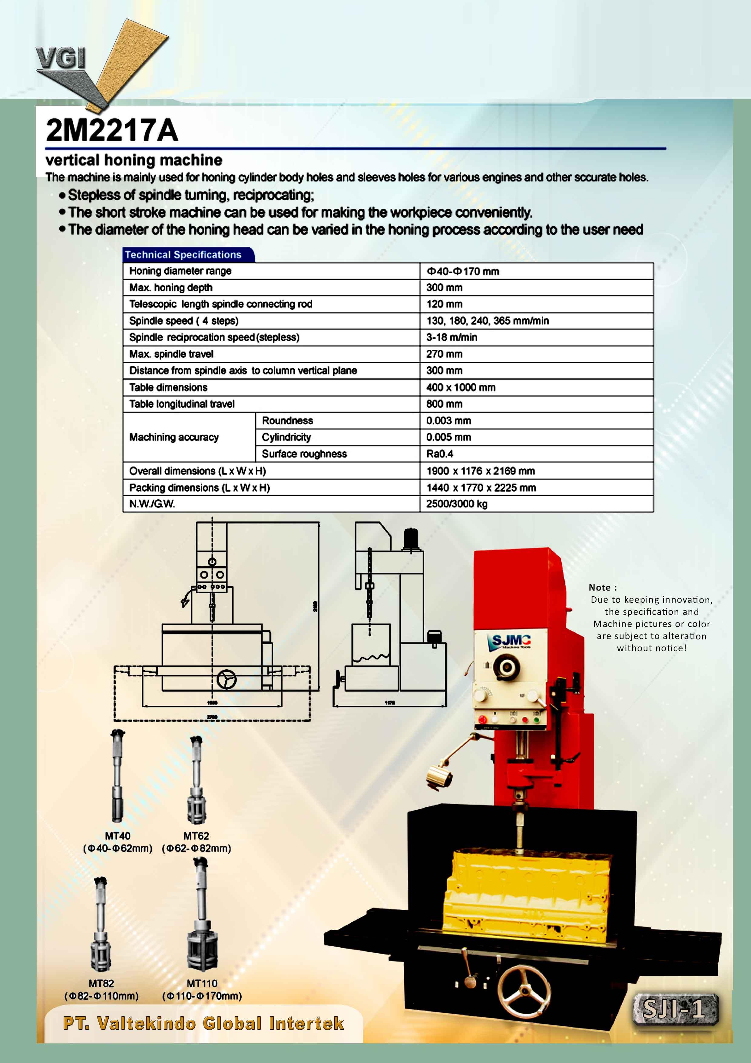jual mesin Vertical Honing Machine 1