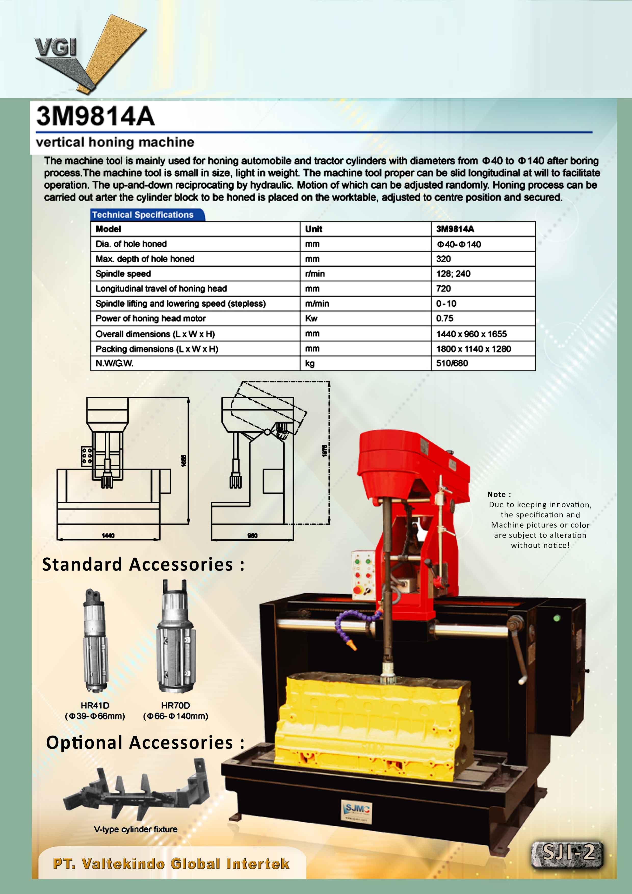 jual mesin Vertical Honing Machine 2