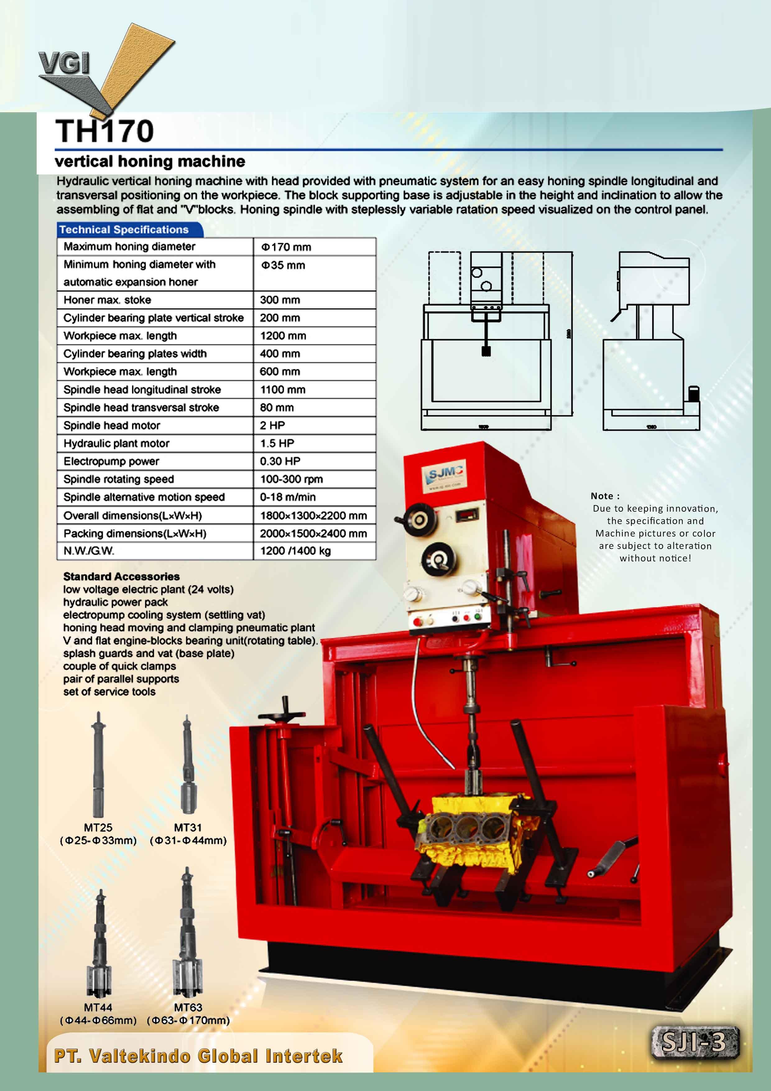 jual mesin Vertical Honing Machine 3