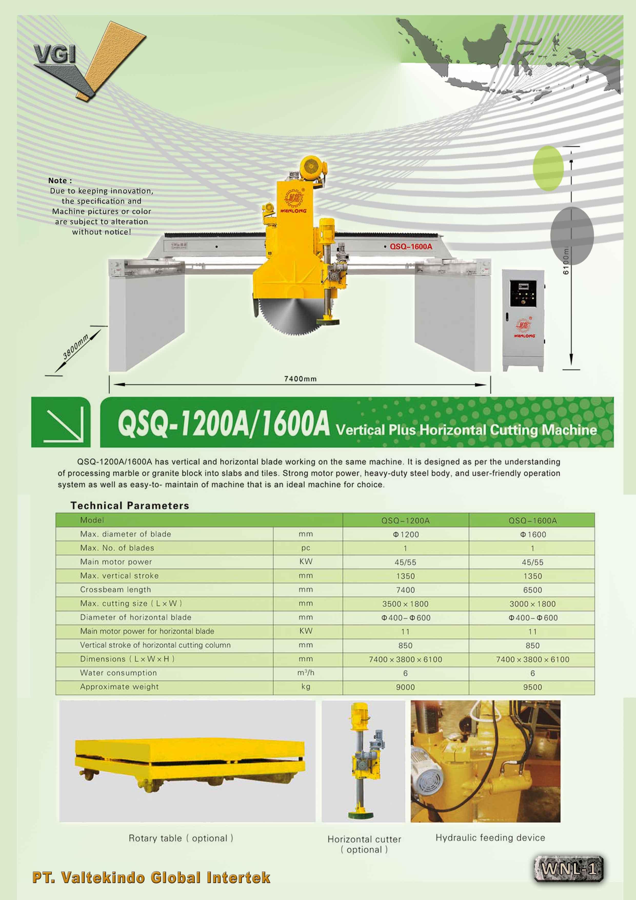 jual mesin Vertical Plus Horizontal Cutting Machine Vertical Plus Horizontal Cutting Machine