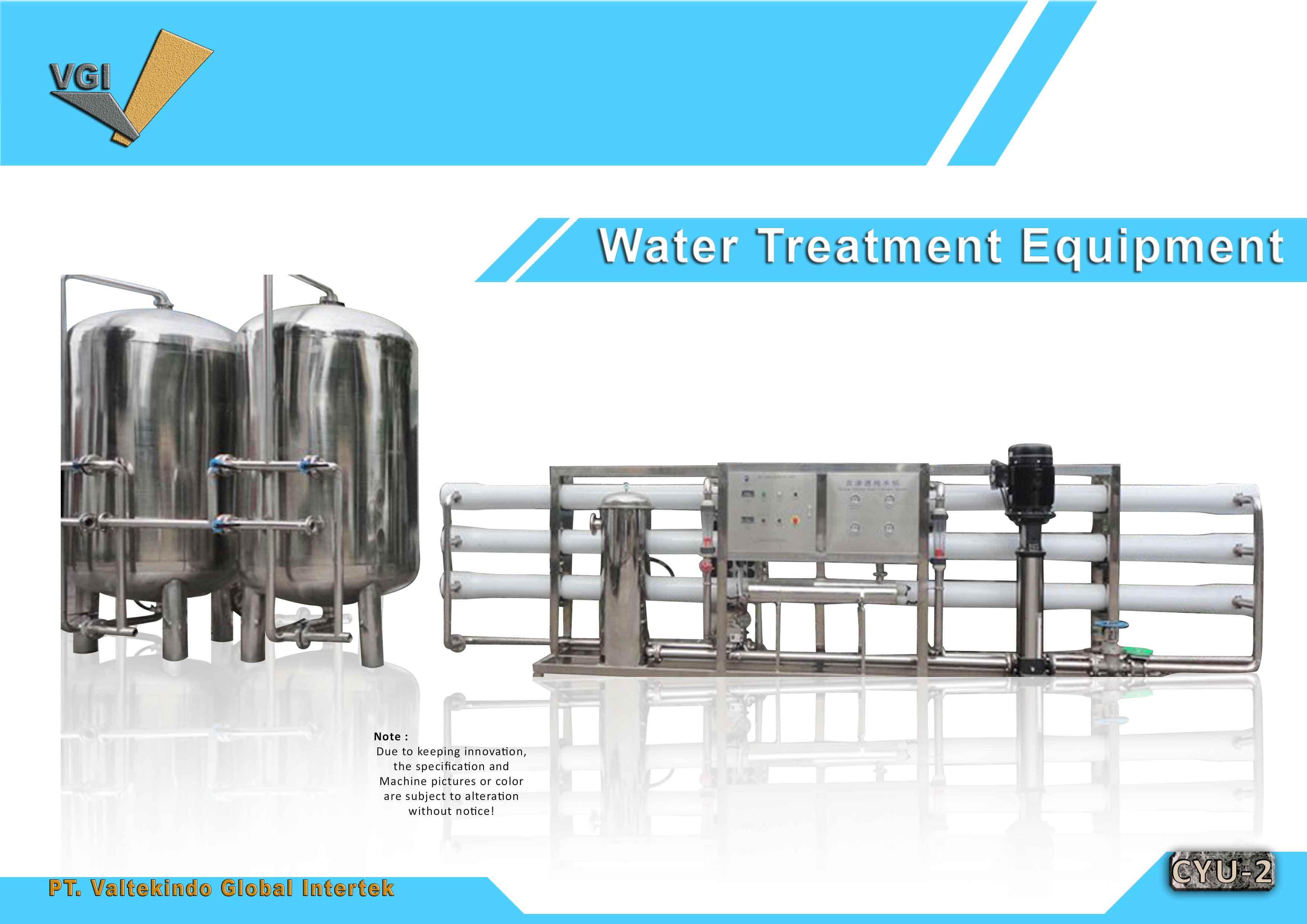 jual mesin Water Treatment Equipment Water Treatment Equipment
