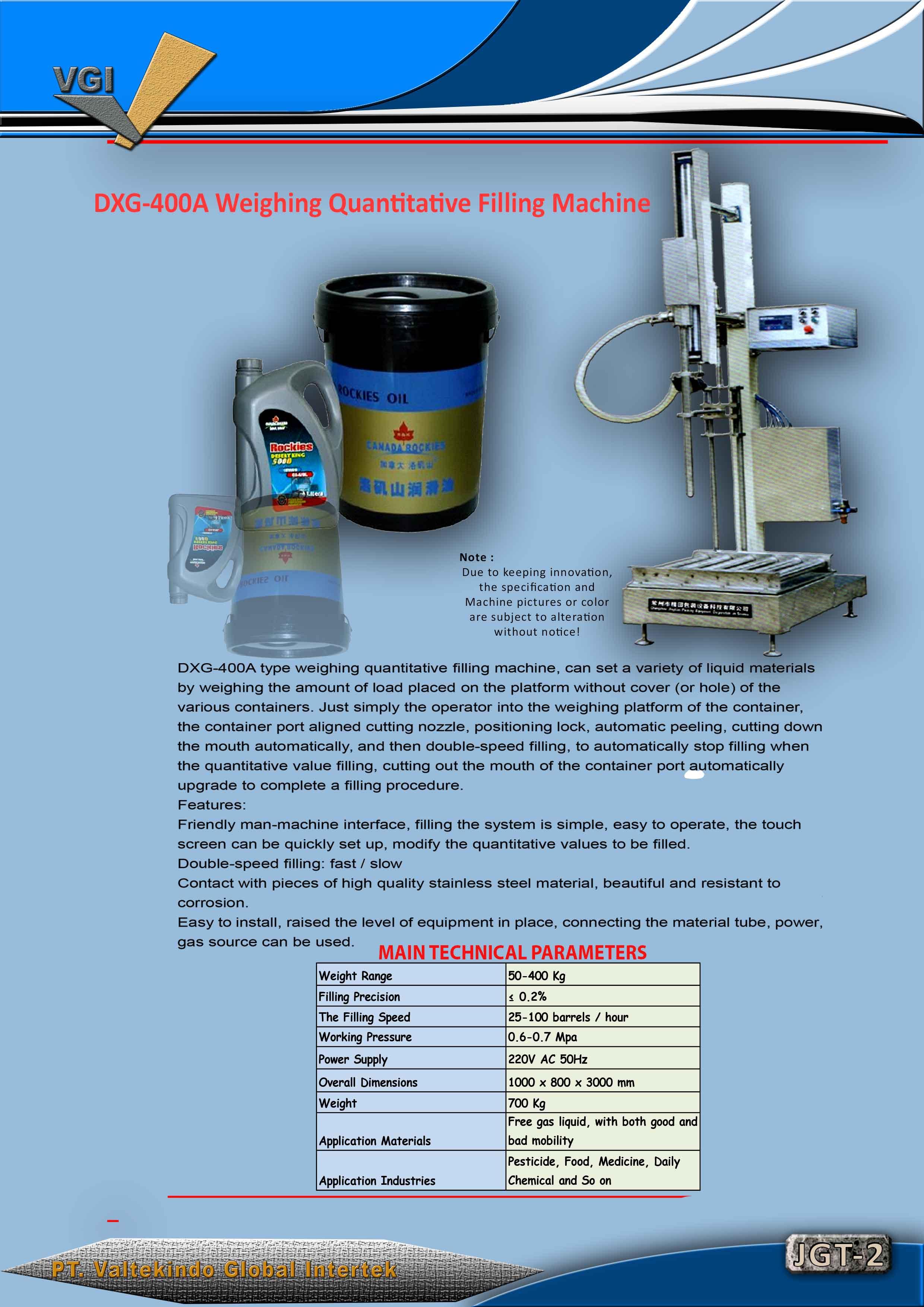 jual mesin Weighing Quantitative Filling Machine2 Weighing Quantitative Filling Machine2