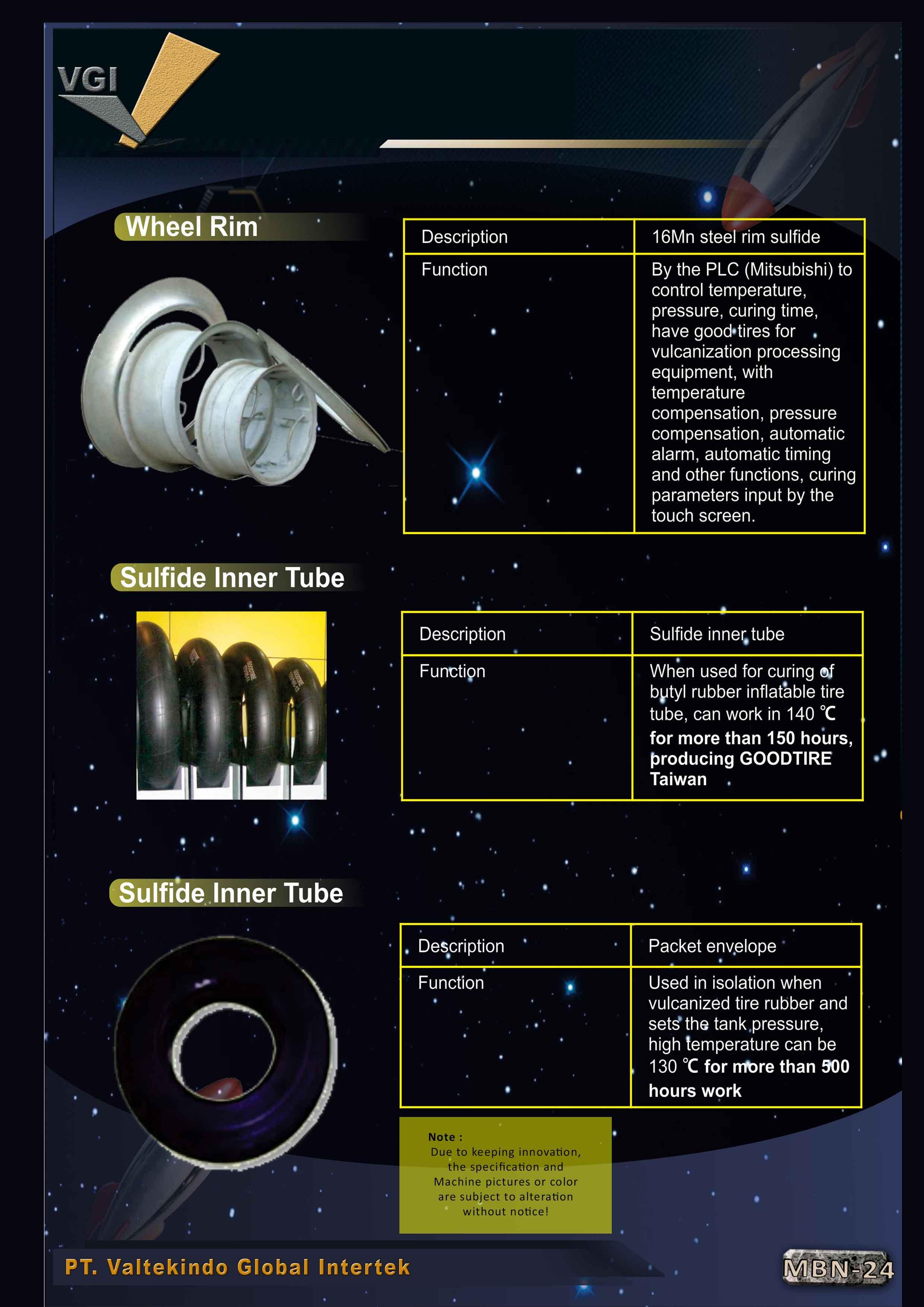 jual mesin Wheel Rim , Sulfide Inner Tube  Wheel Rim , Sulfide Inner Tube